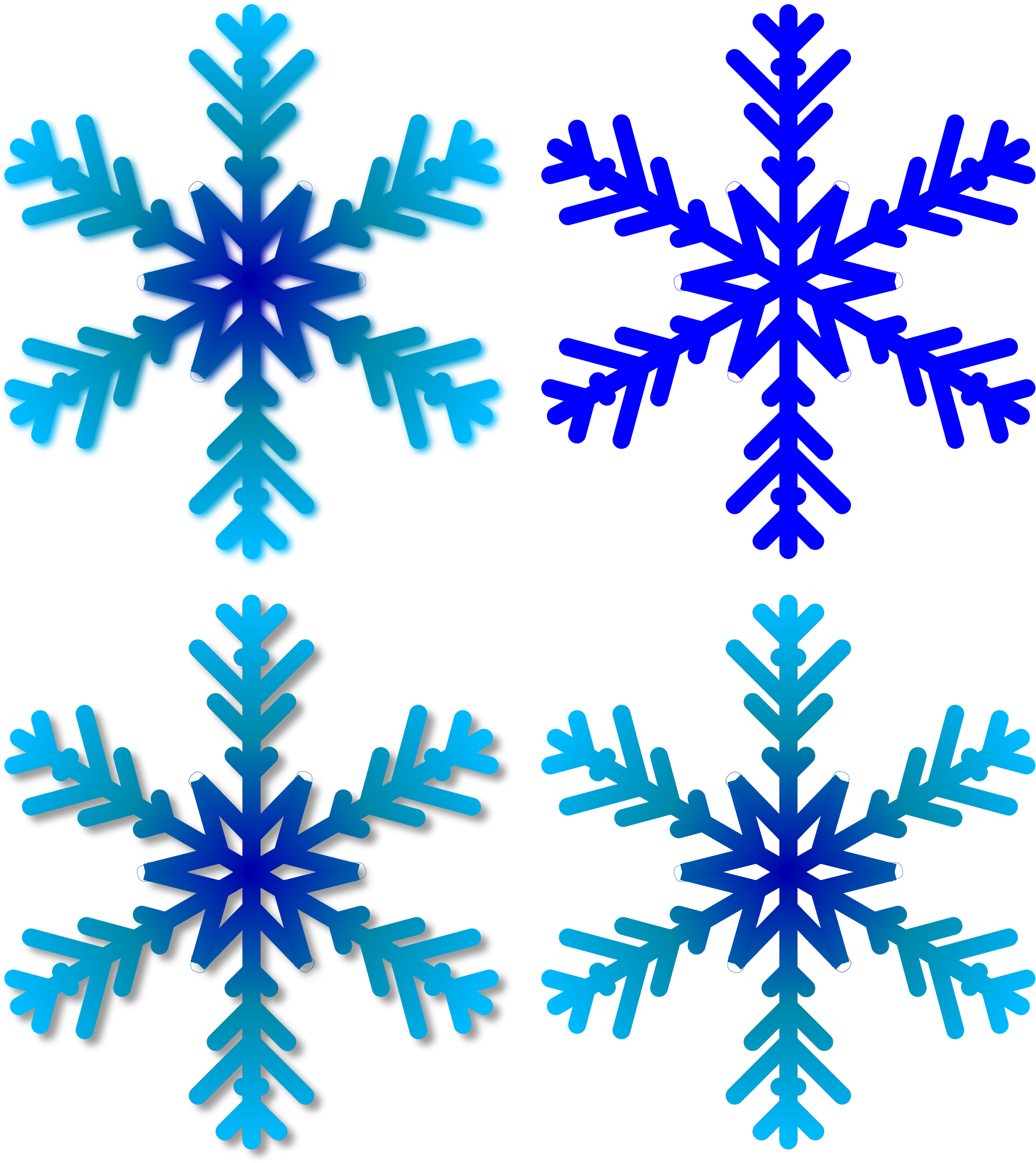 Four Snowflakes by Manuela.