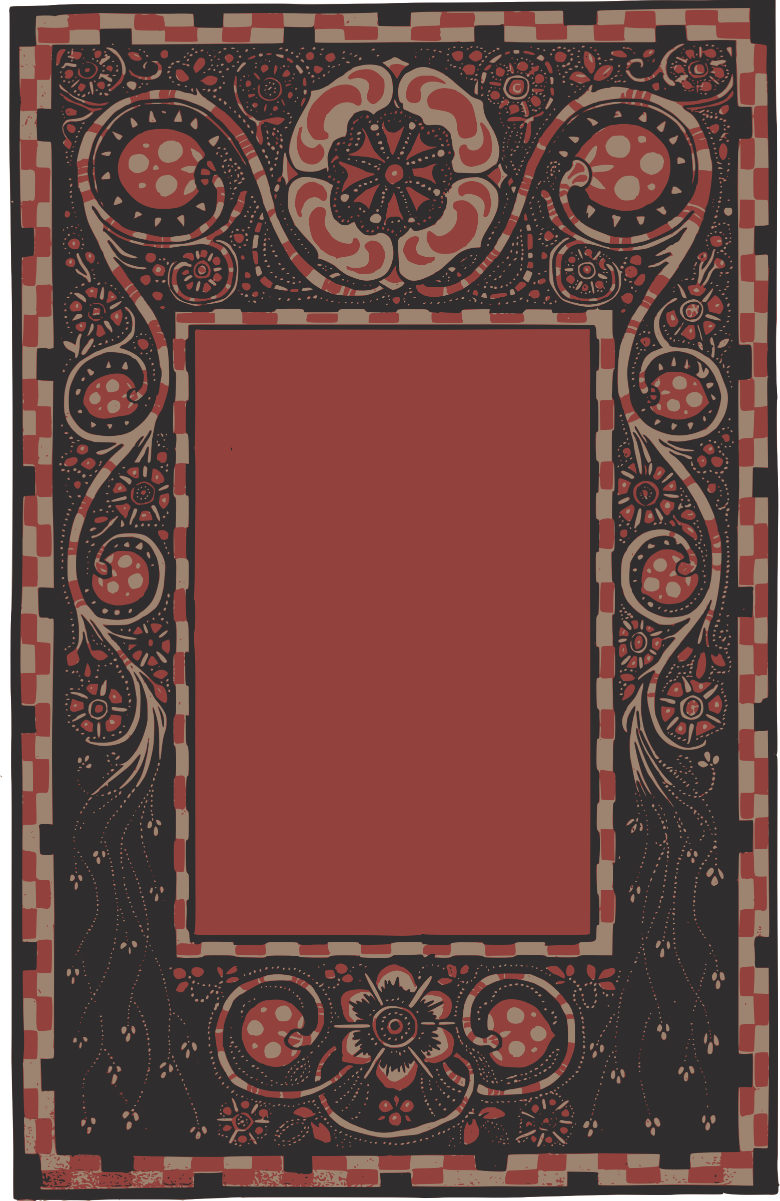Red Decorative Frame by j4p4n
