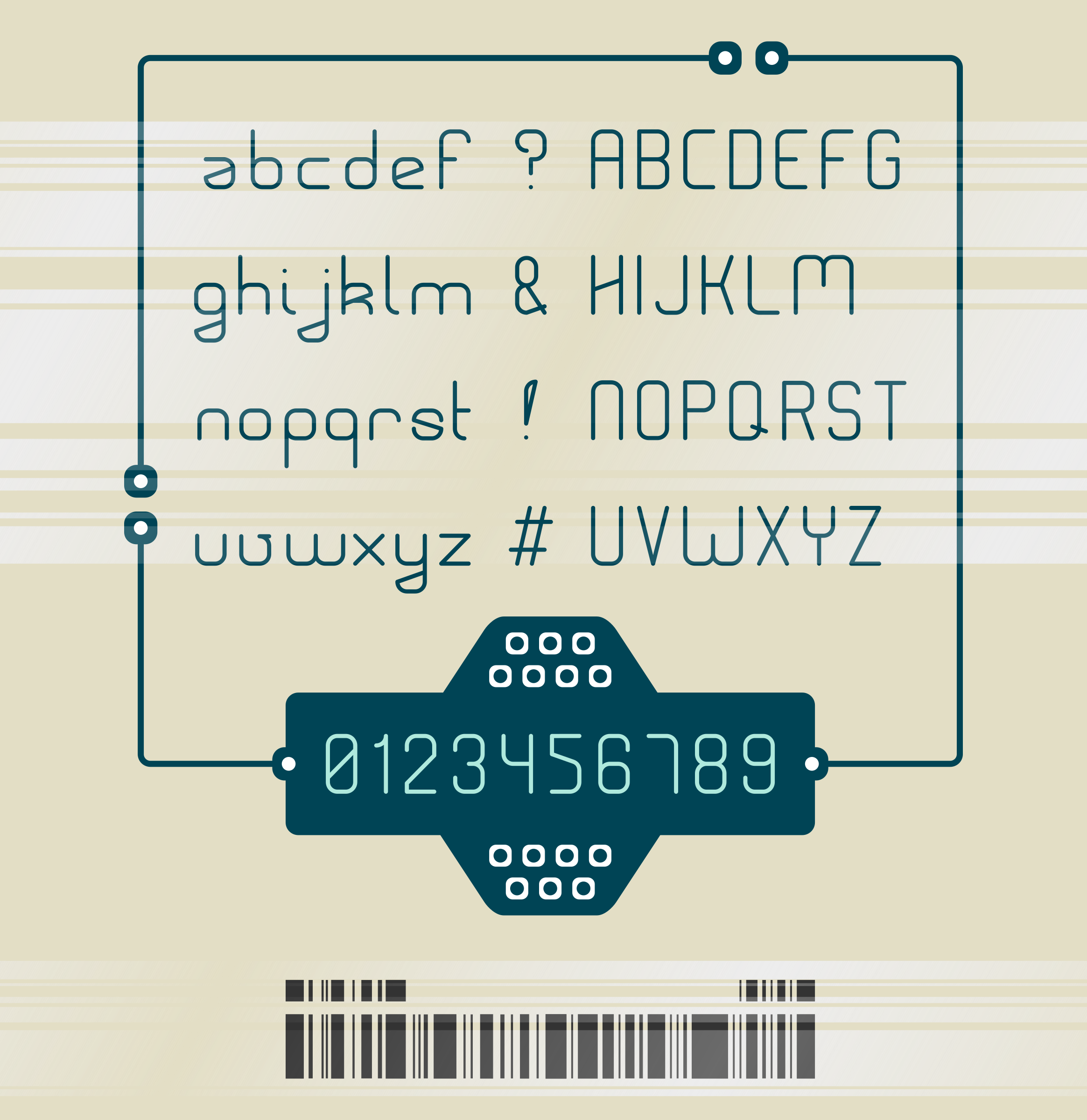 Rouded-1 typeface by m1981