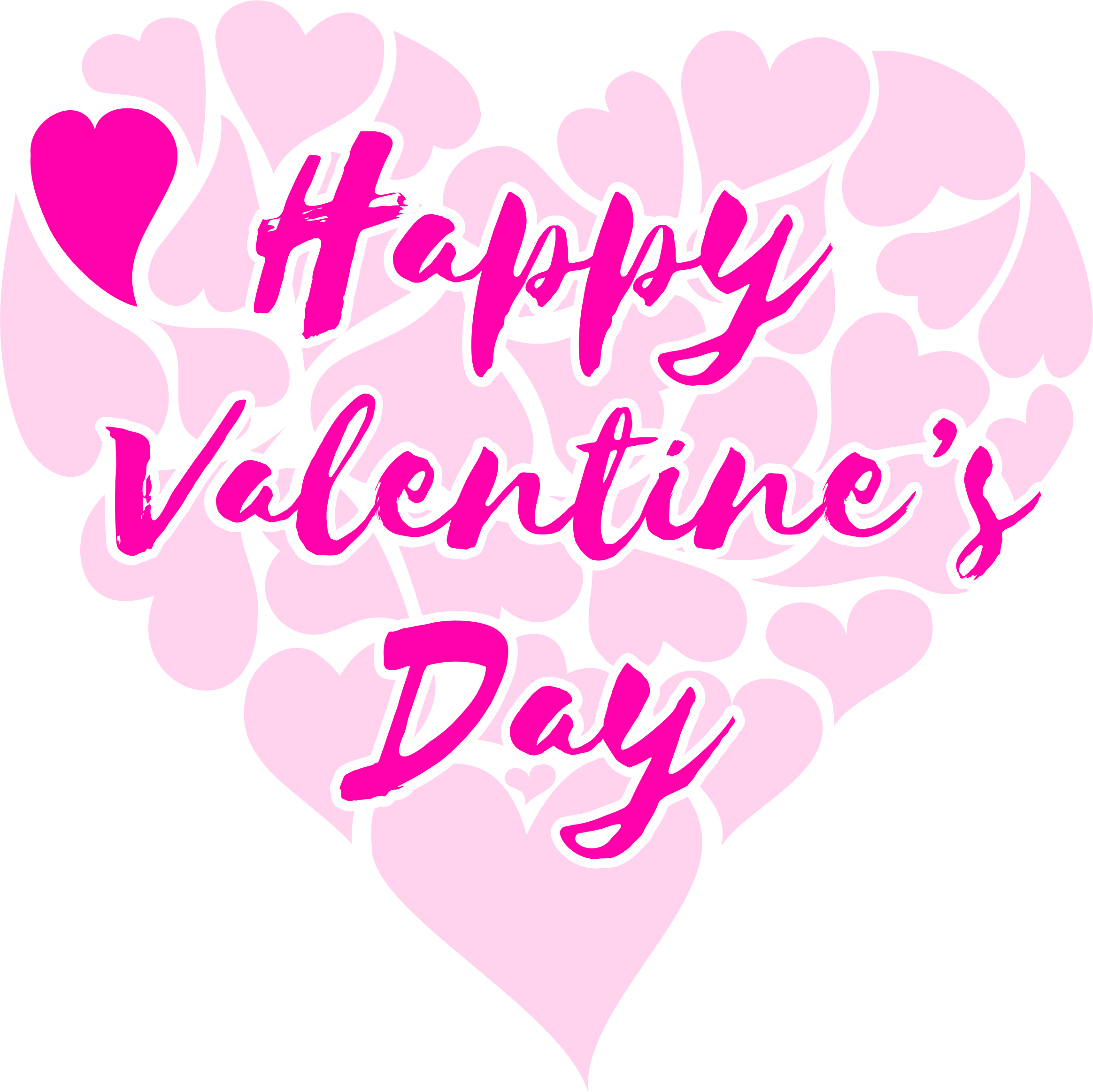 Clipart Happy Valentine S Day Title With Hearts