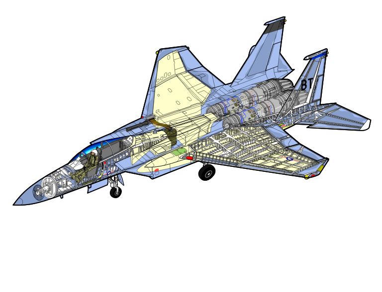 F15 drawing by arminw