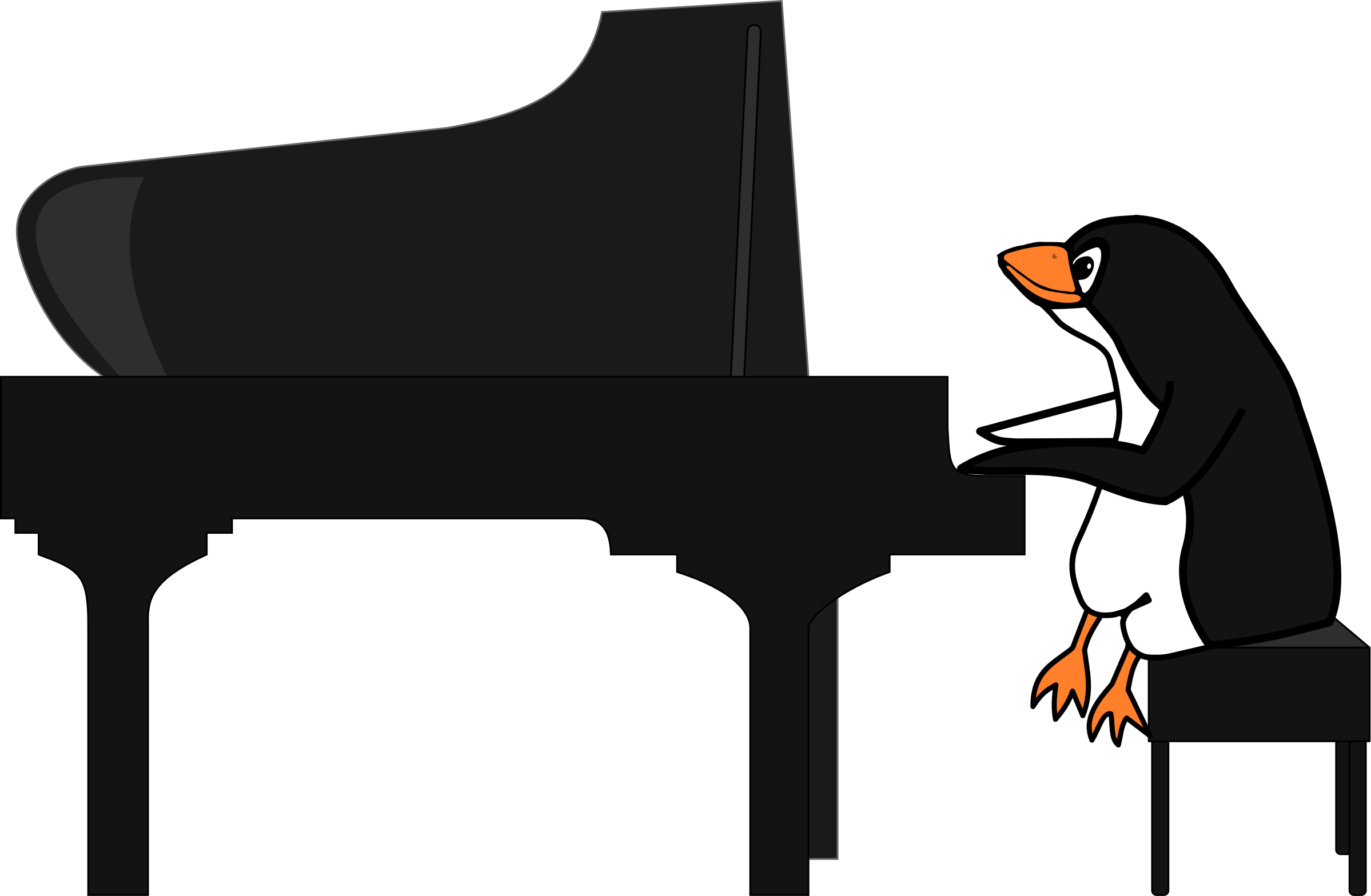 Penguin Playing Piano by SunKing2
