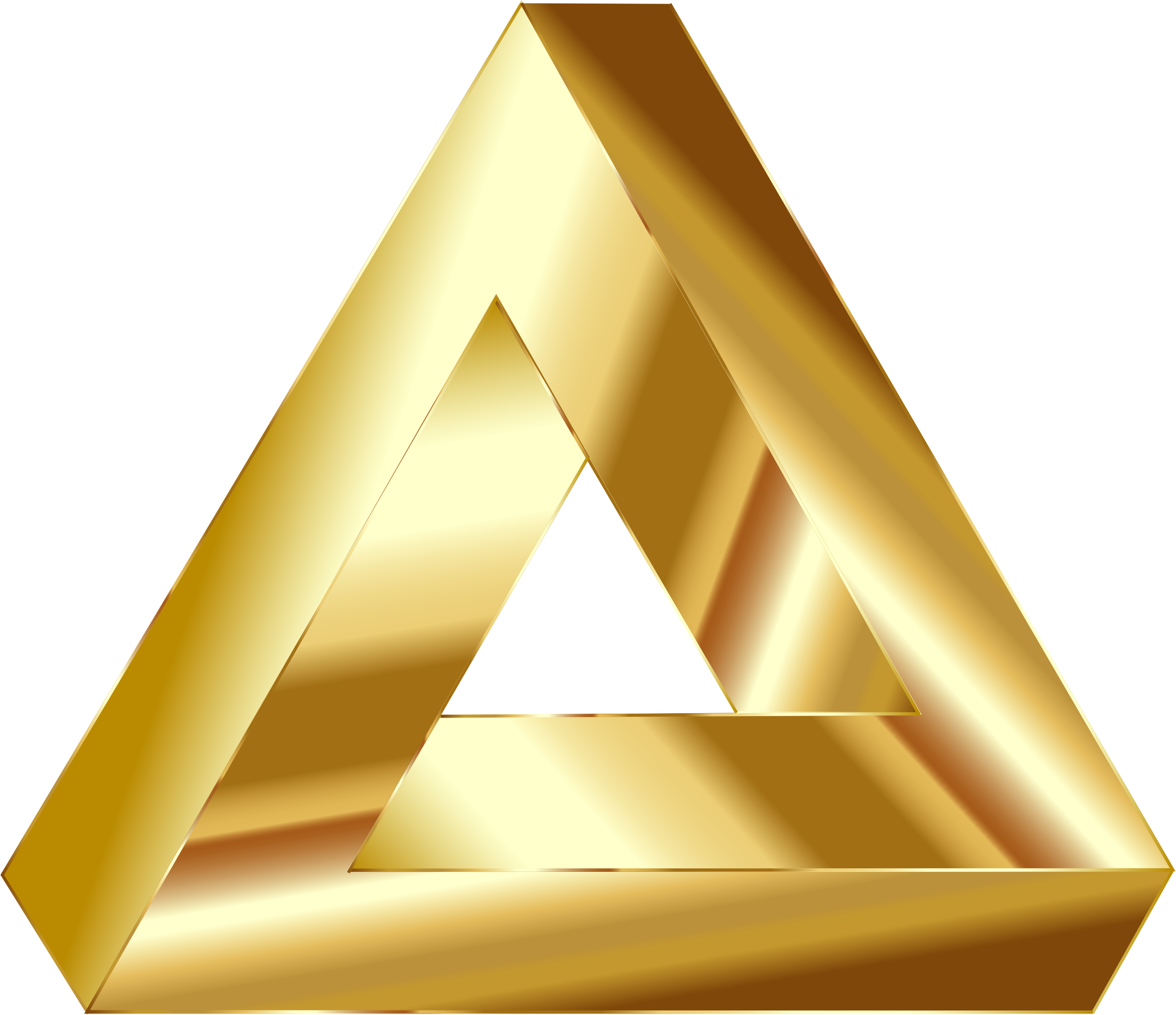 Gold Penrose Triangle by GDJ