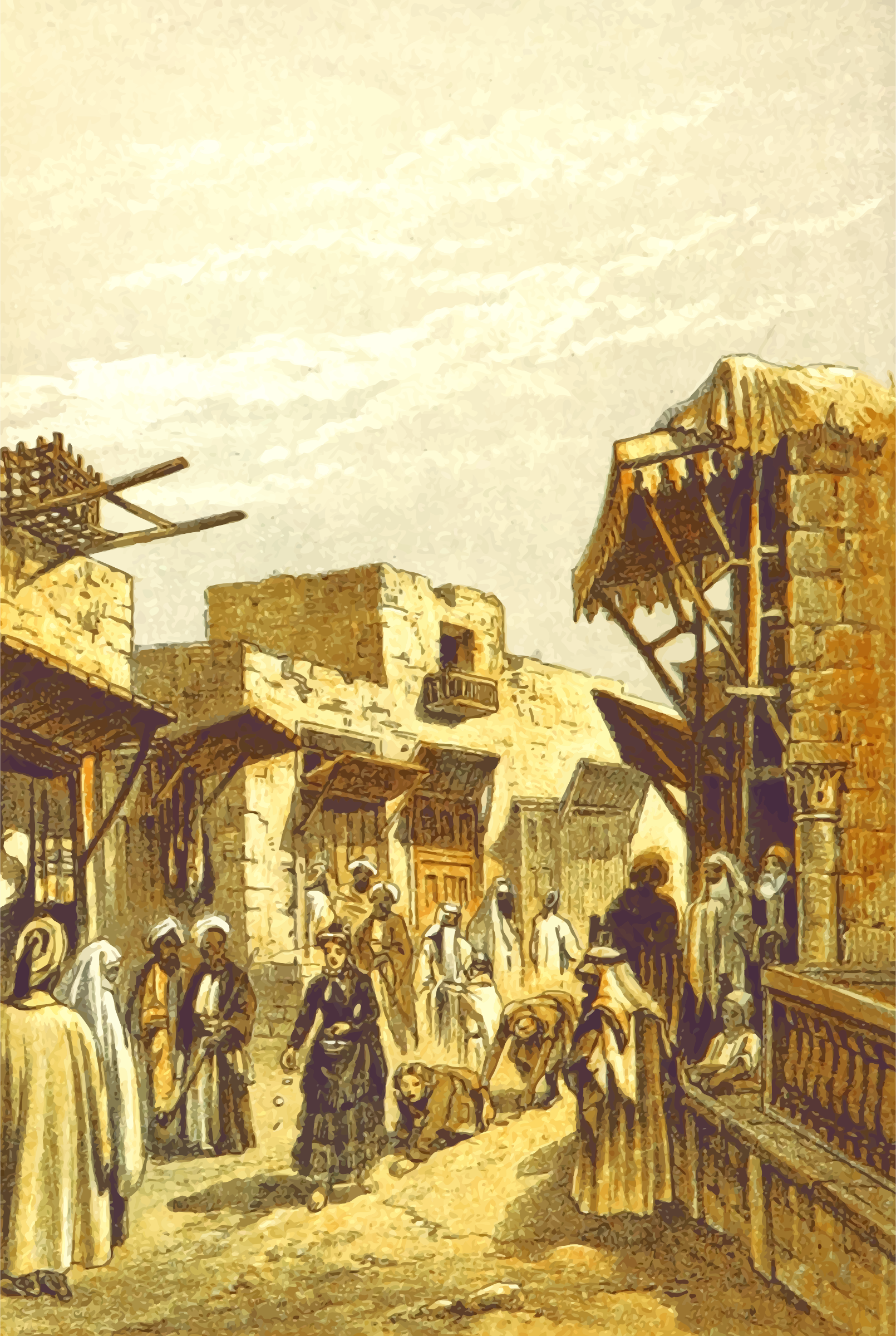 Middle Eastern scene - Pilgramage in Jerusalem by Firkin