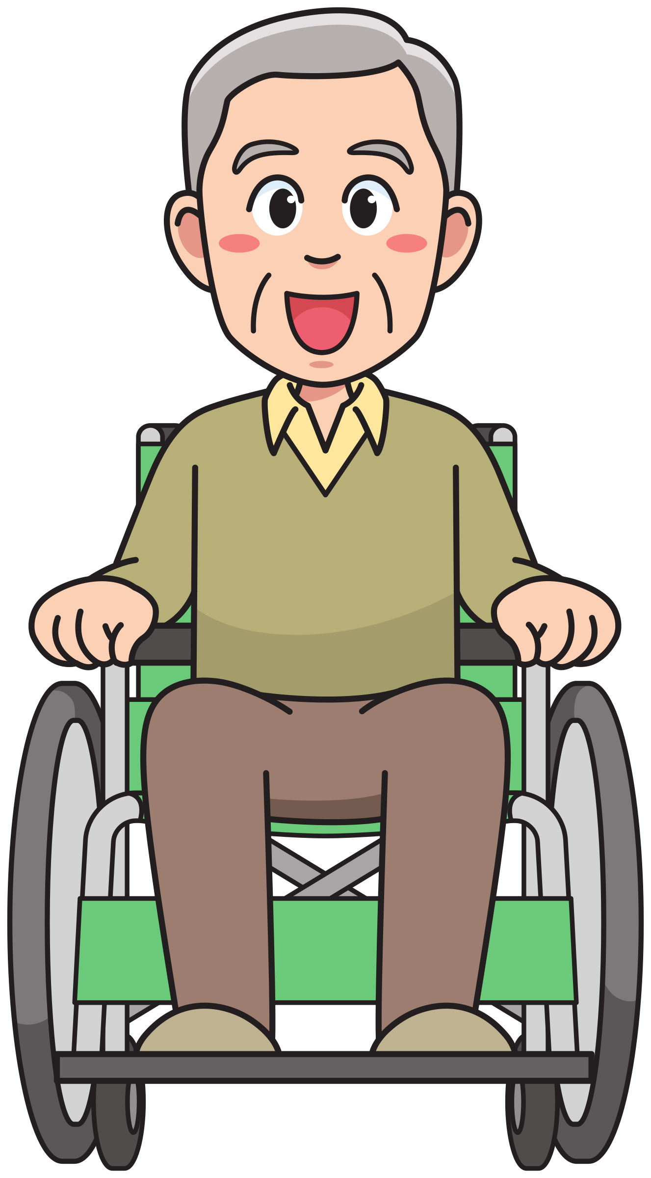 Grandfather on a wheelchair by Juhele