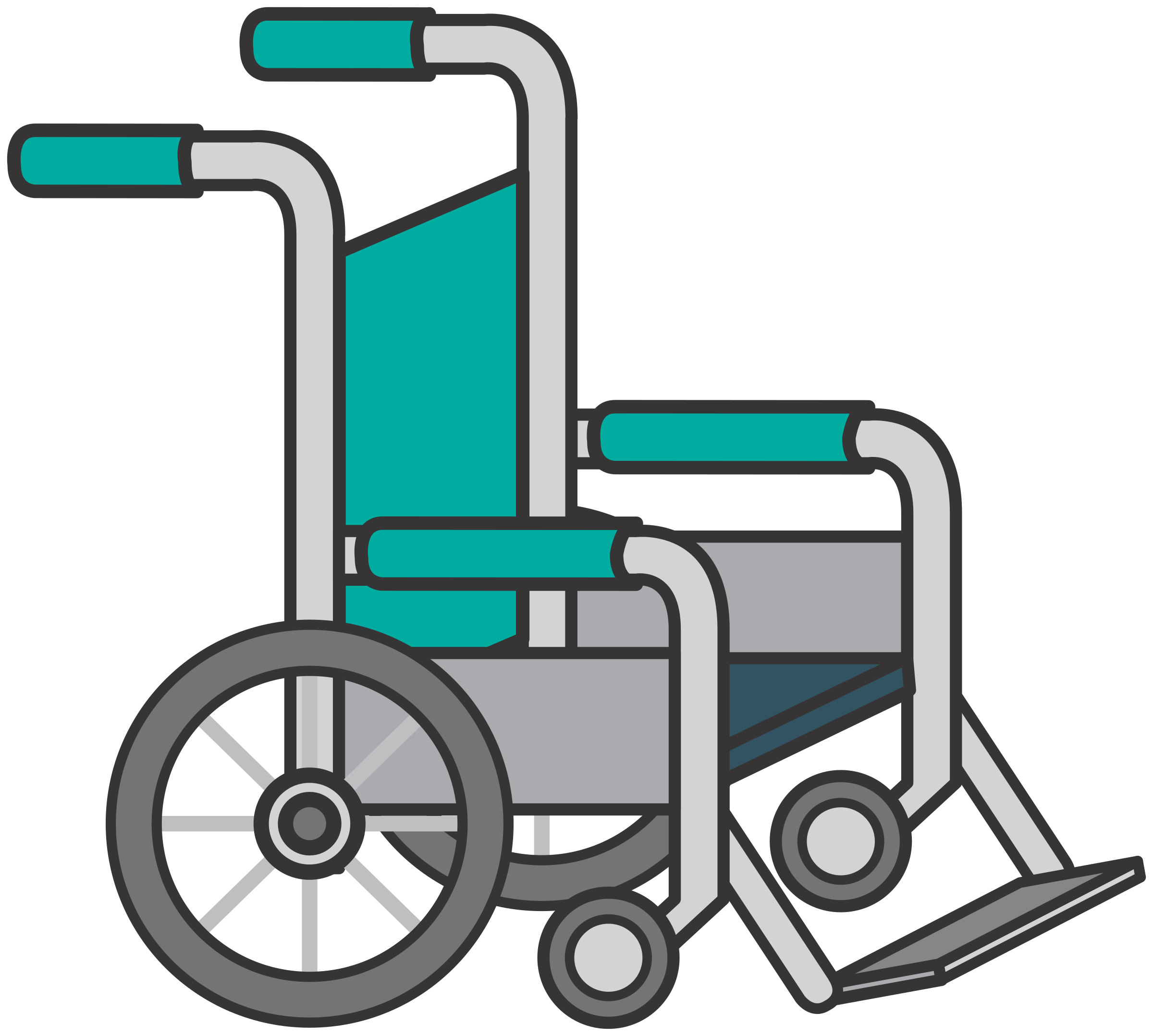 Wheelchair by Juhele