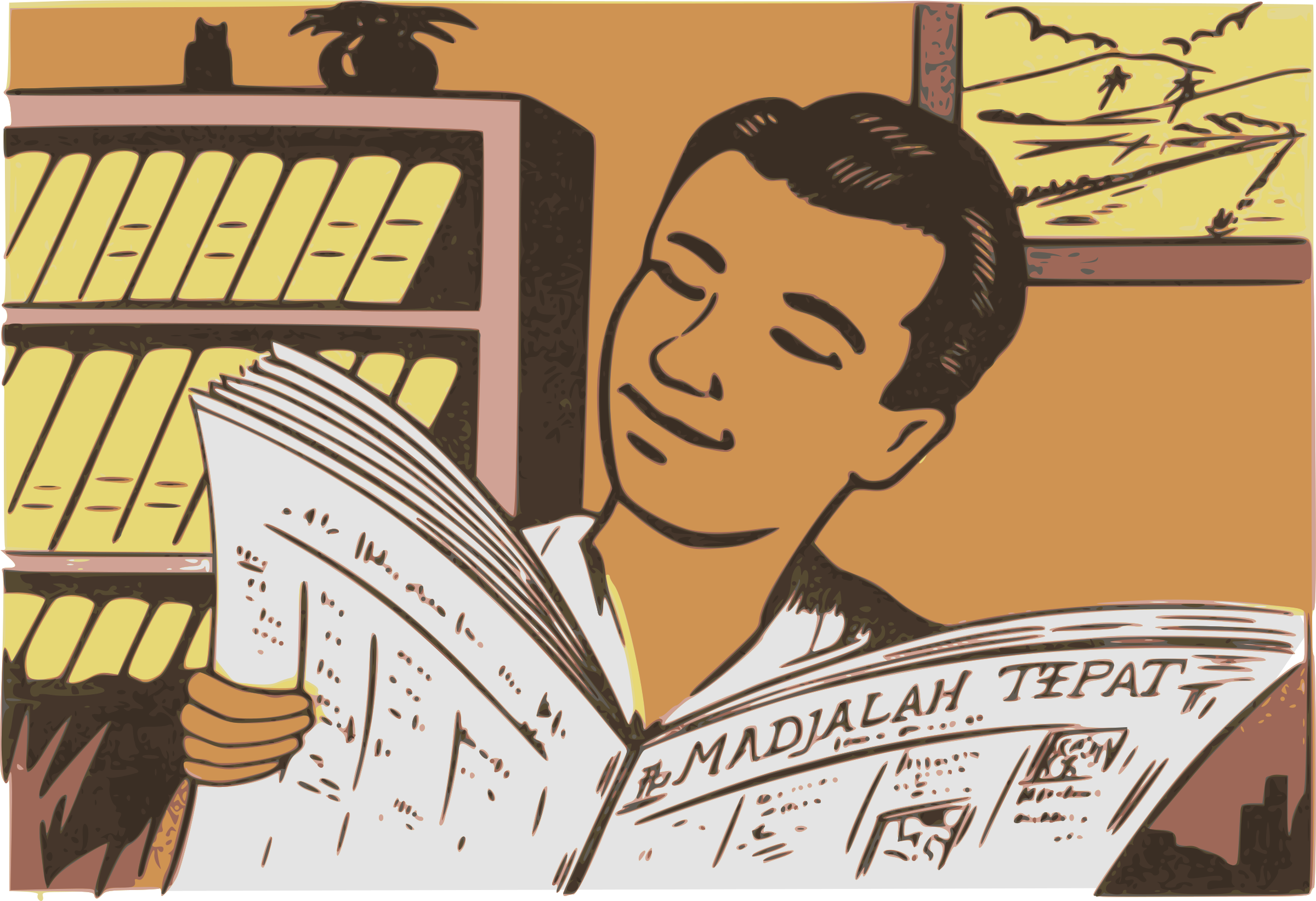 Indonesian Newspaper by j4p4n