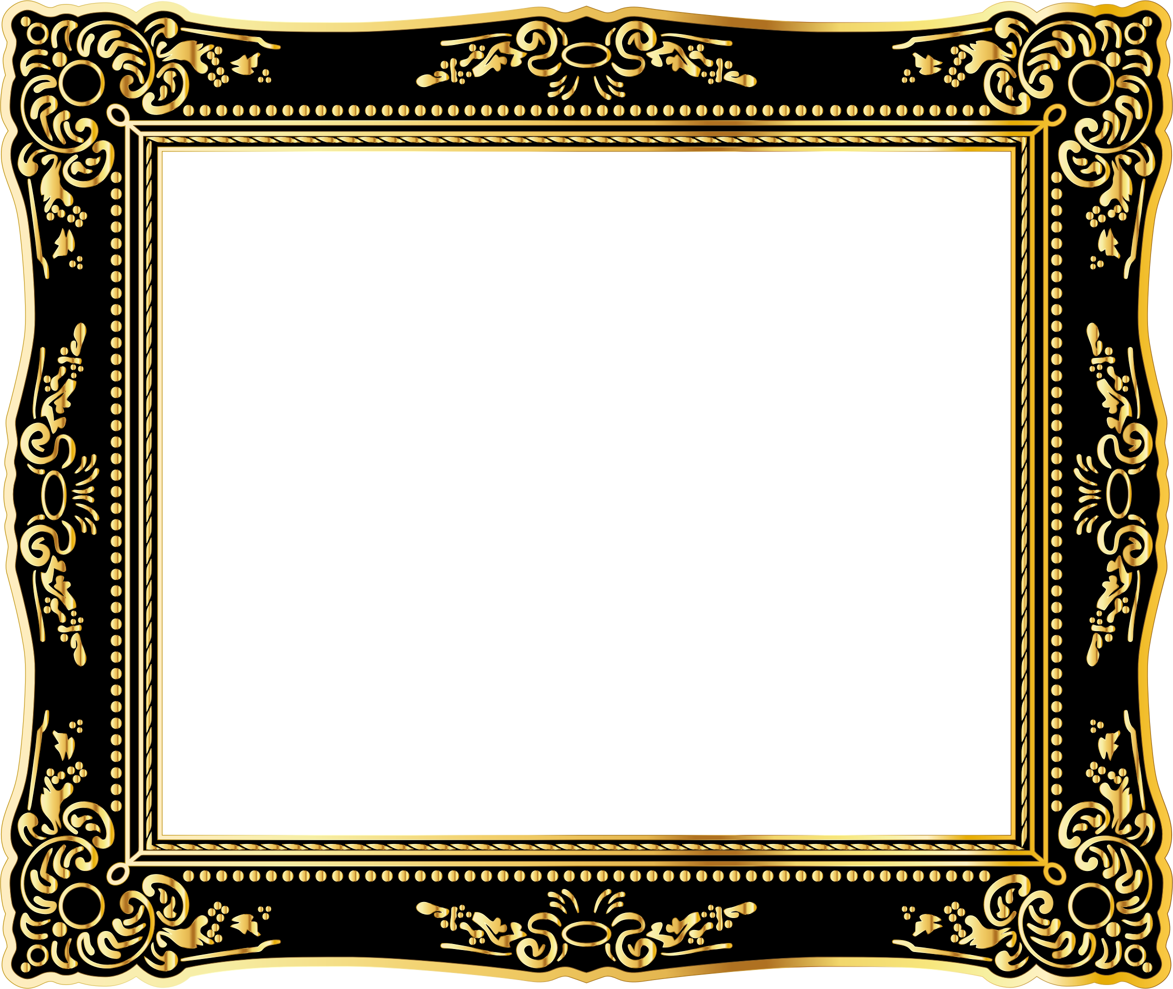 Clipart - Vintage Style Frame Gold