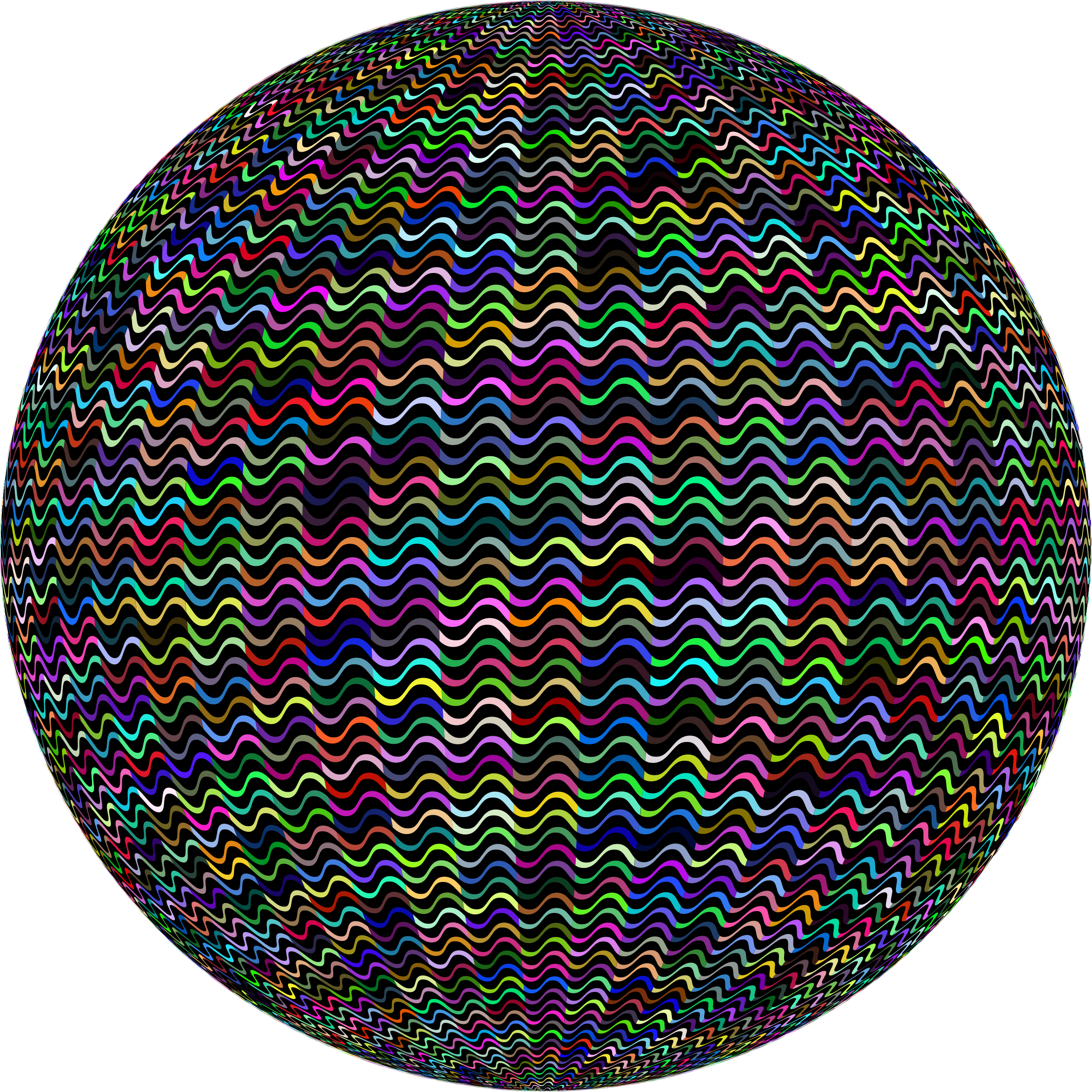 Prismatic Curves Sphere by GDJ
