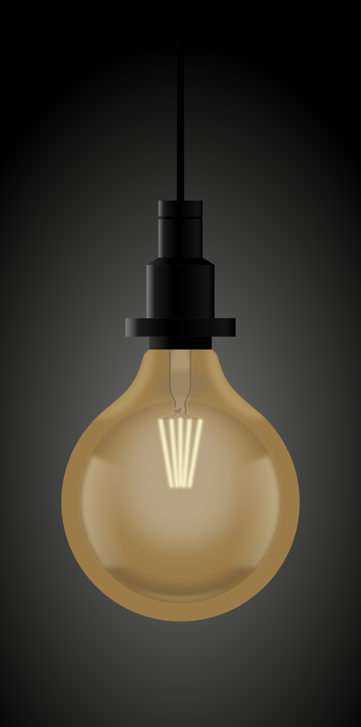 Light bulb by conte magnus
