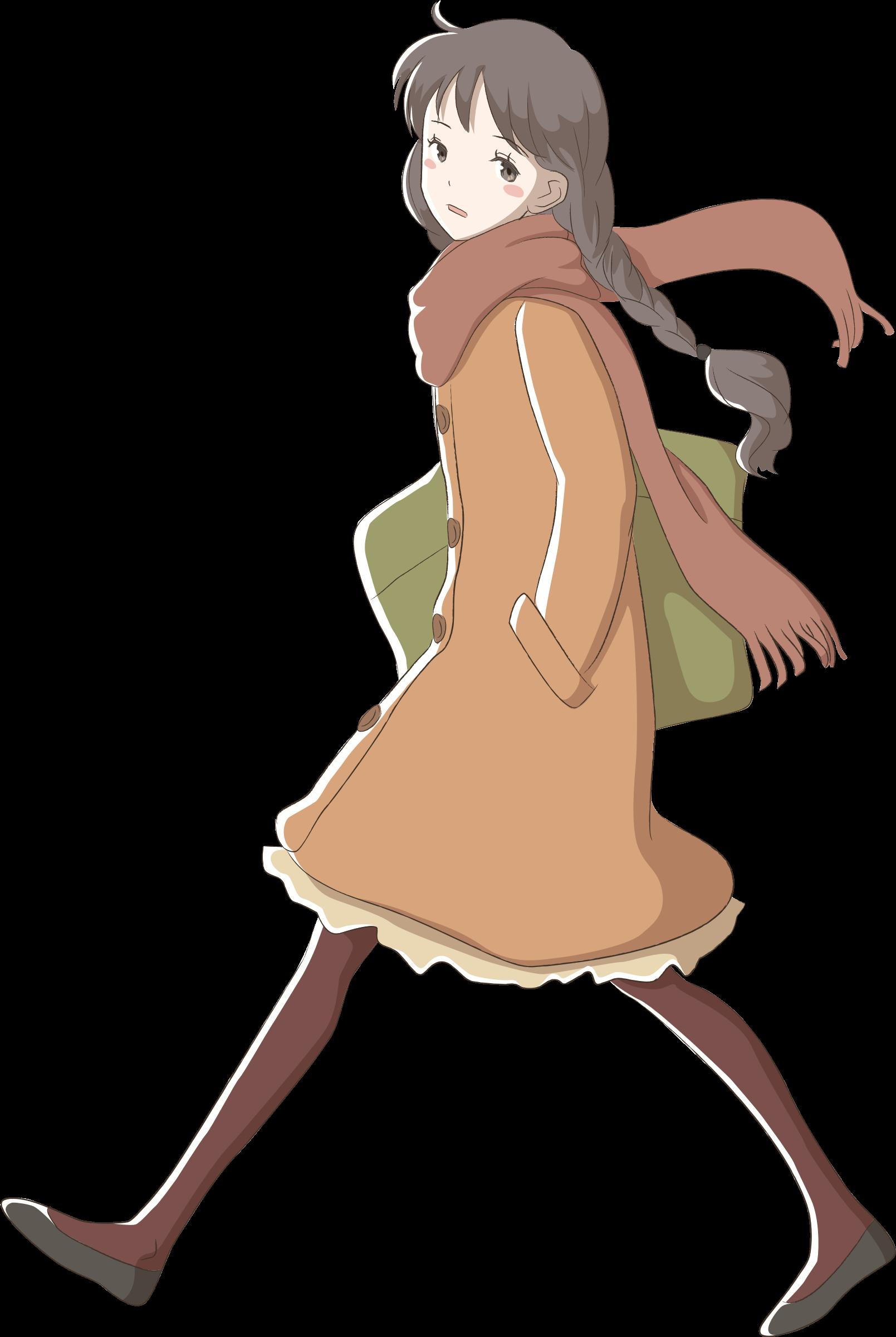Clipart Girl Walking