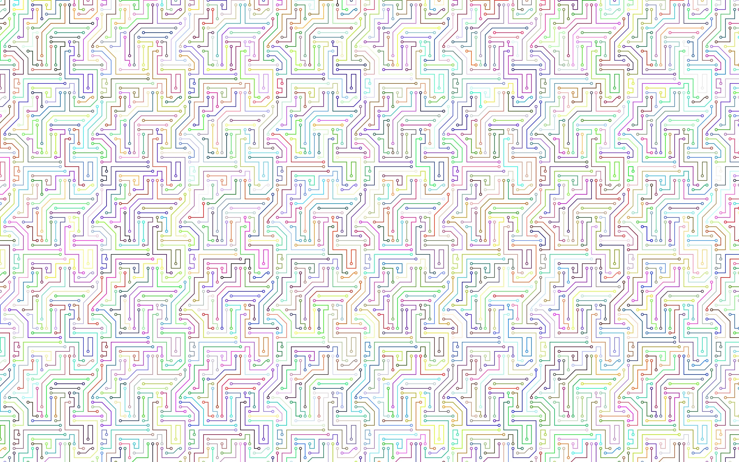 Clipart - Prismatic Circuit Board Pattern No Background