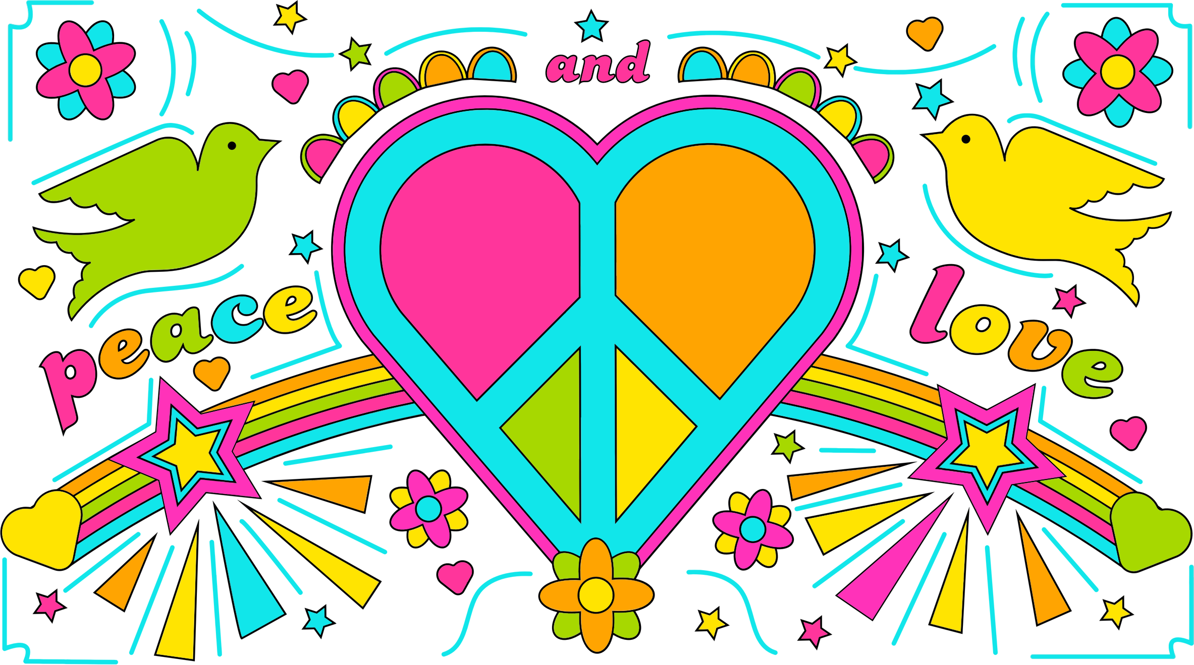 Peace And Love By David Rock Design by GDJ