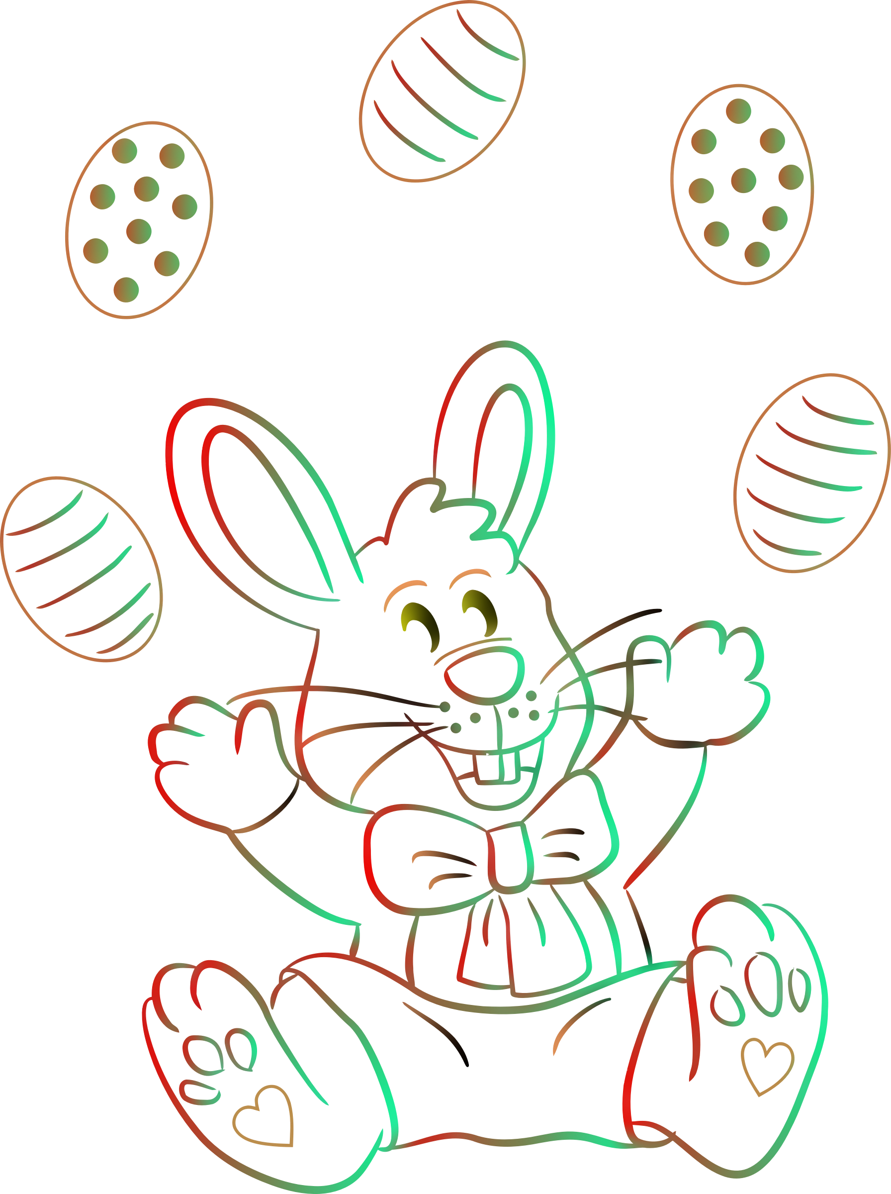 Easter bunny (colour 2) by Firkin