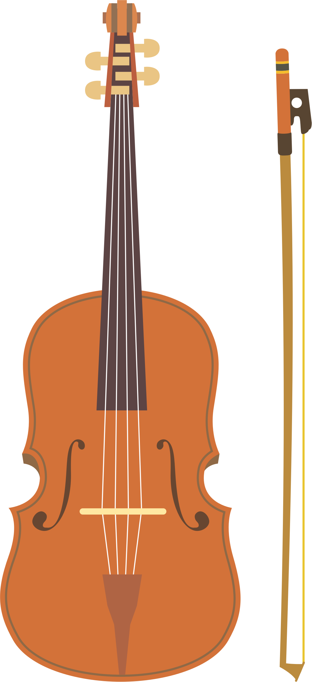Violin and bow (#4) by oksmith