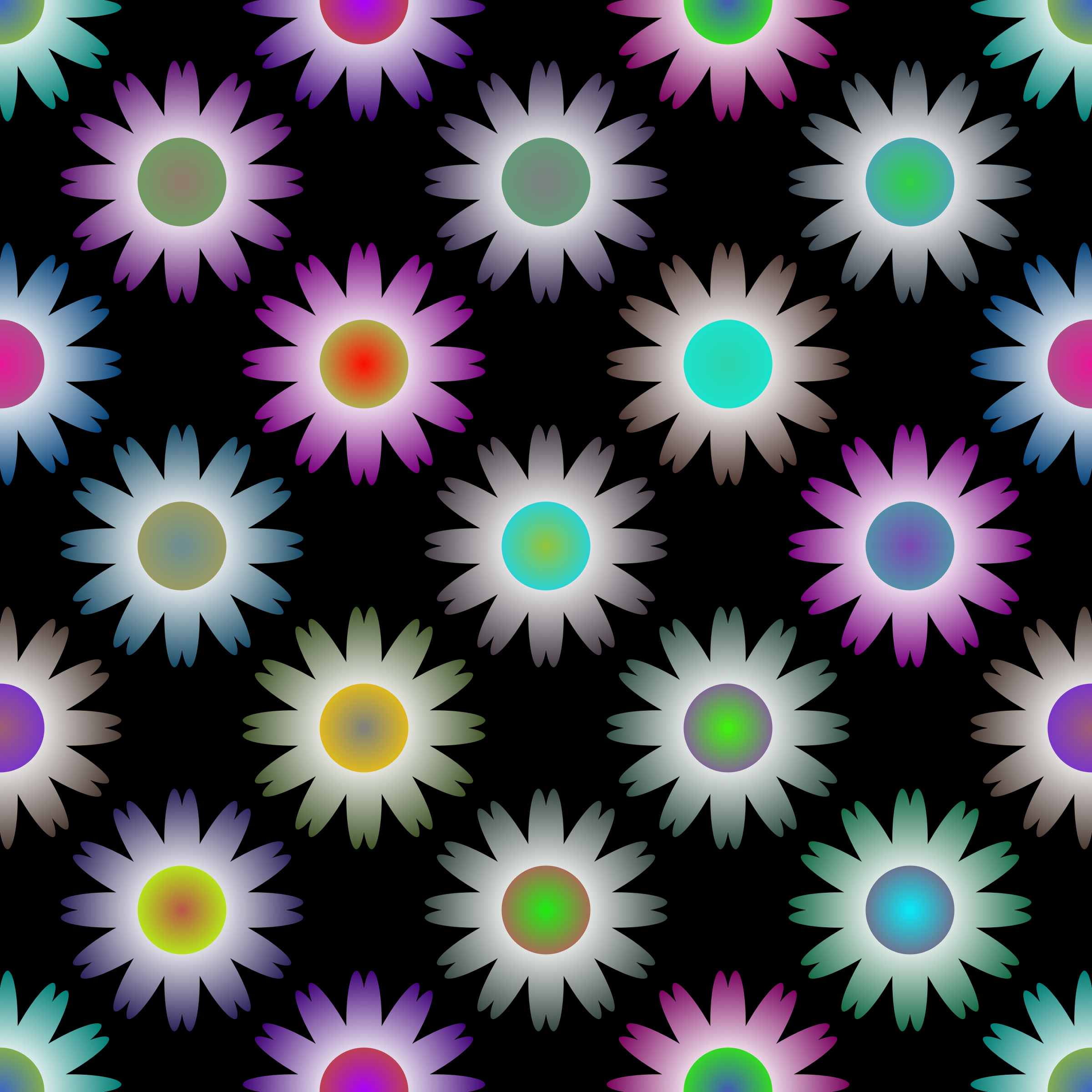 Floral tile 2 by Firkin