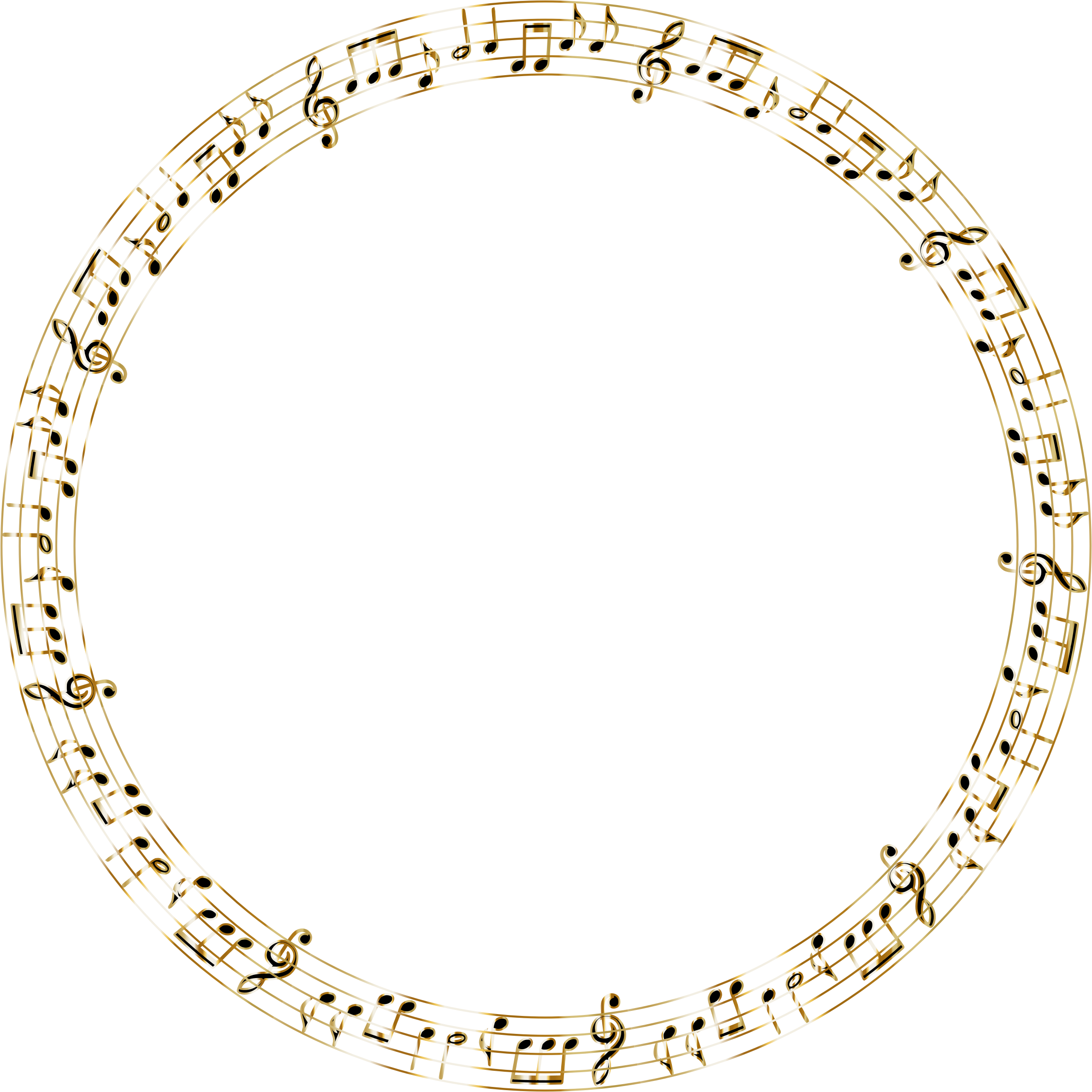Golden Musical Circle No Background by GDJ