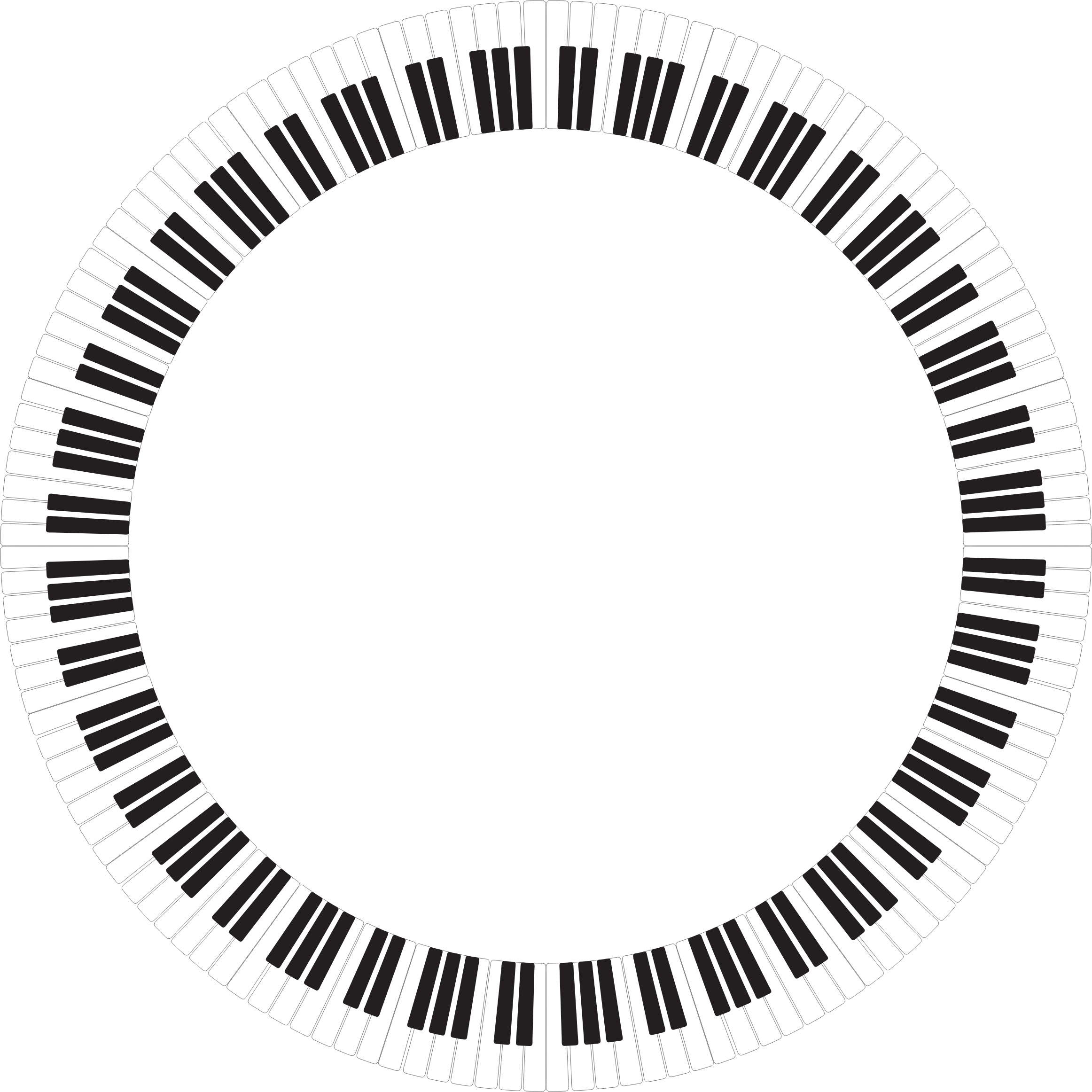 clipart piano keys circle inverted. Black Bedroom Furniture Sets. Home Design Ideas
