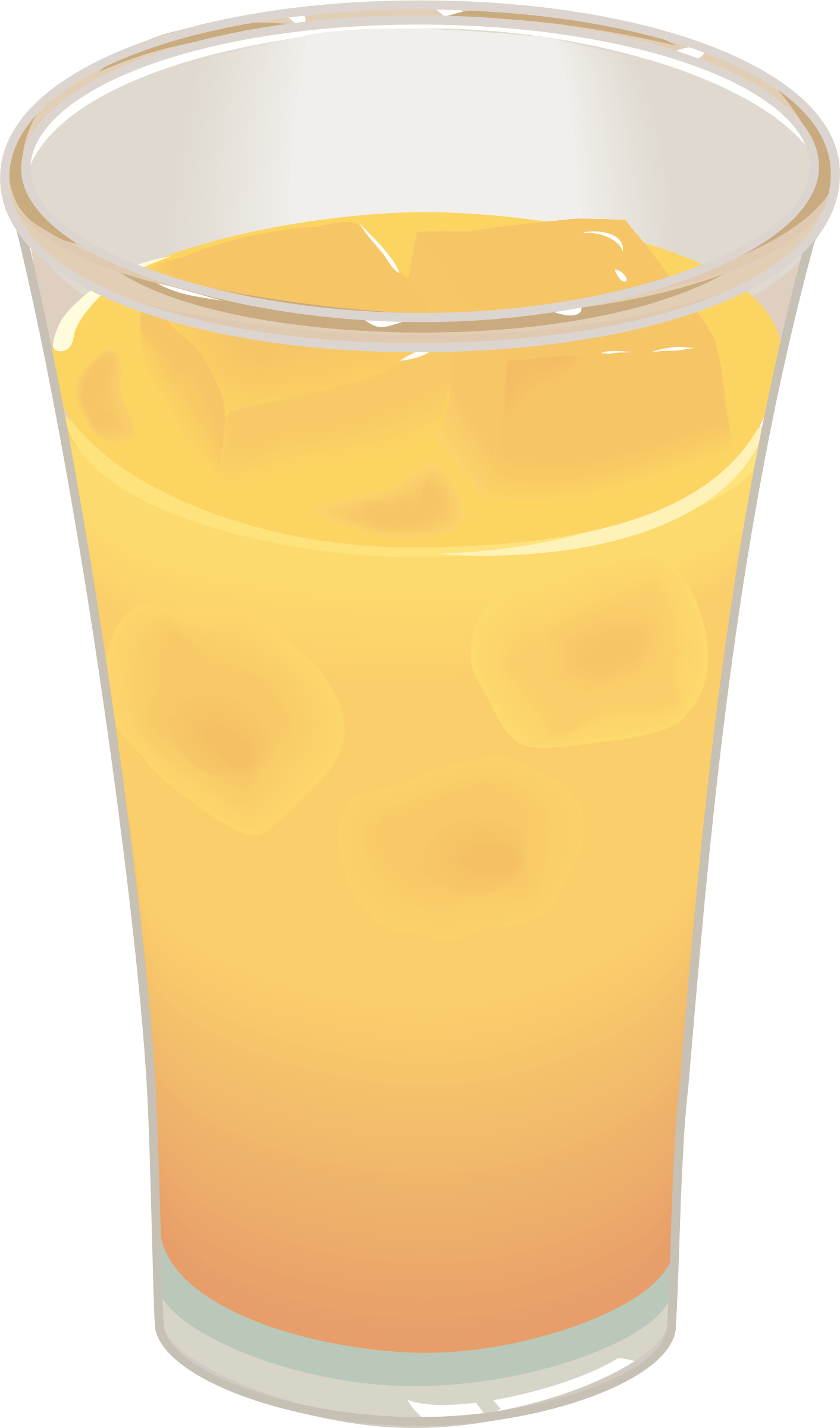 Clipart Glass Of Orange Juice