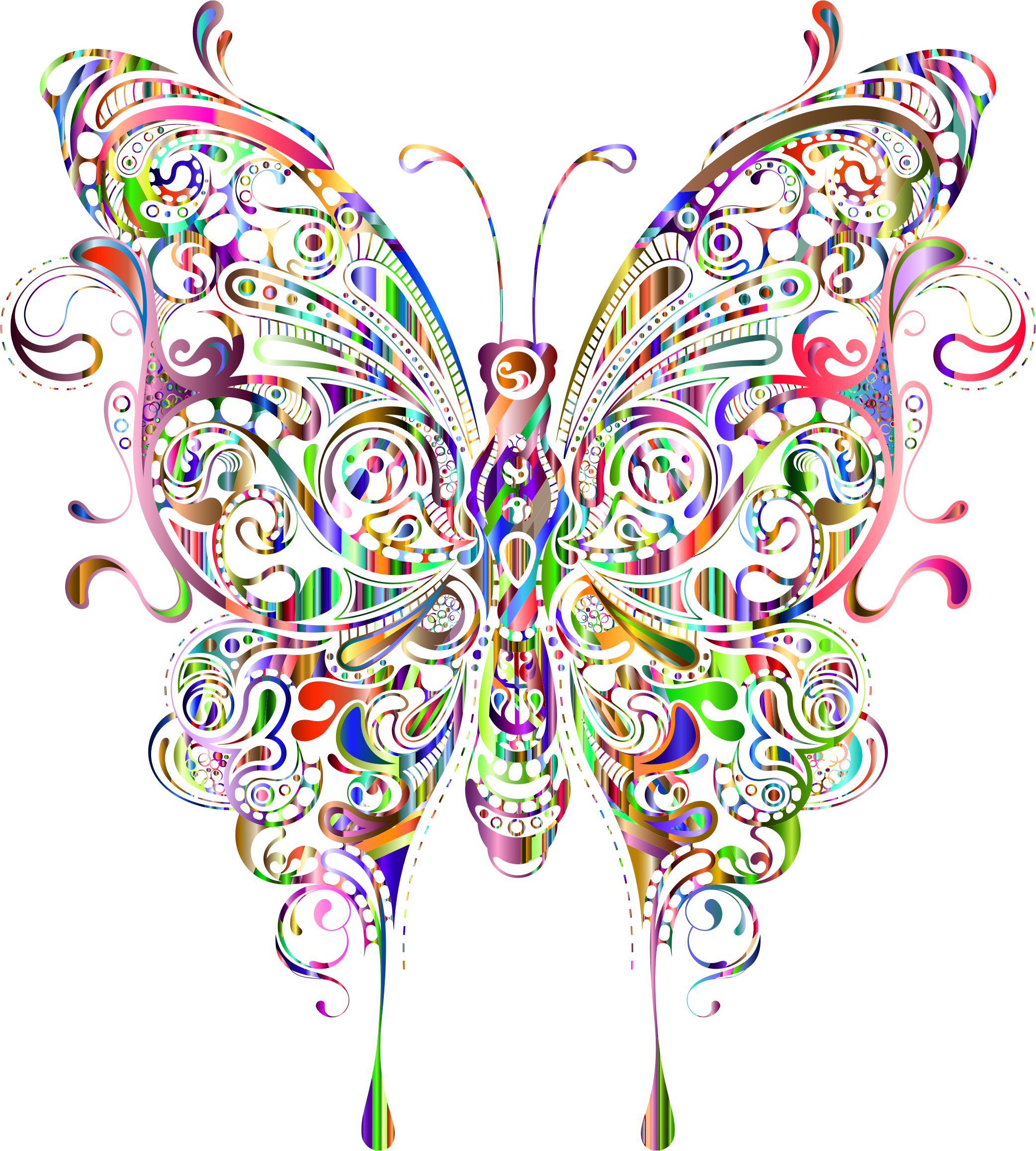 Abstract Butterfly II Prismatic 2 by GDJ