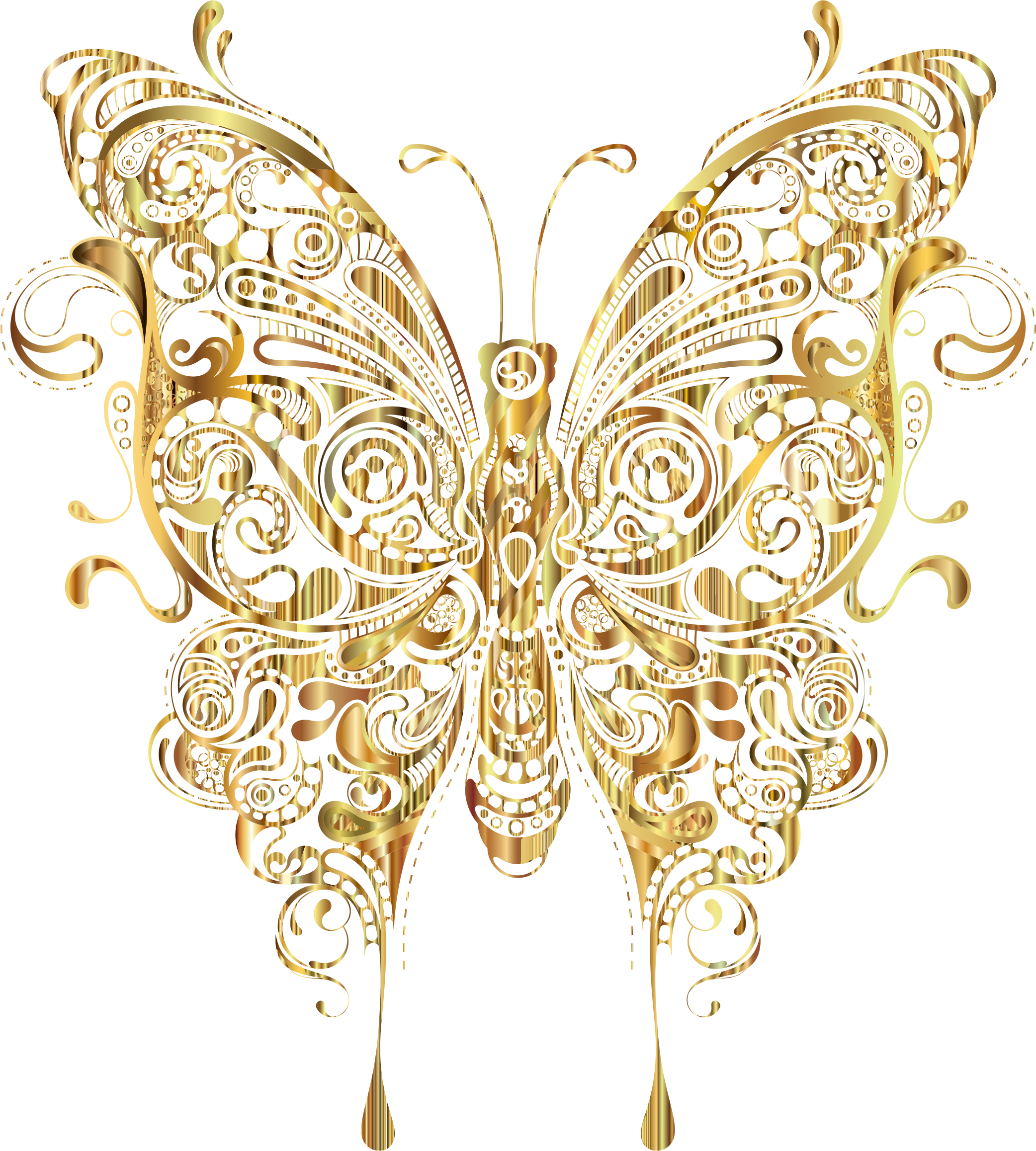 Abstract Butterfly II Gold by GDJ