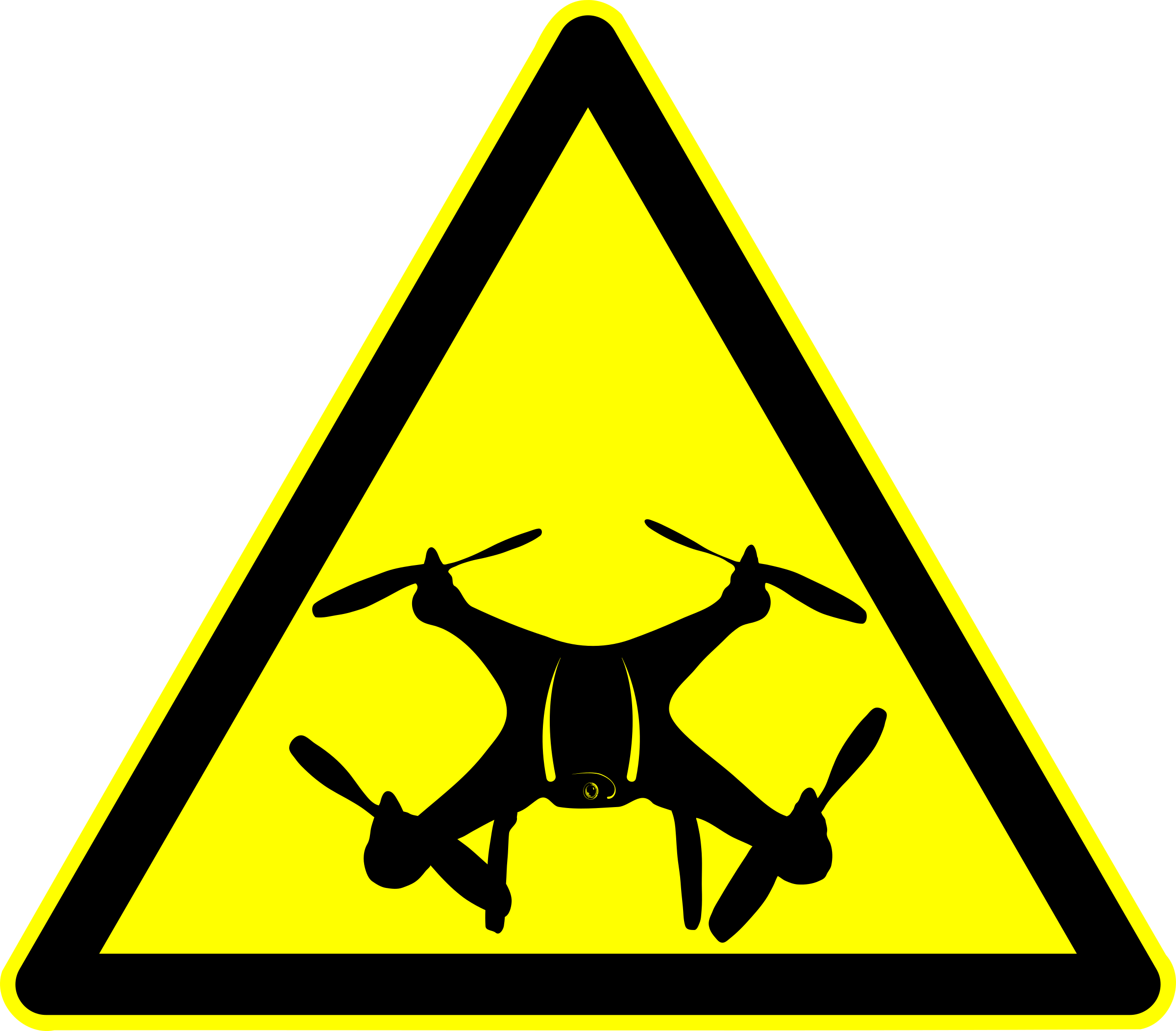 Drone Warning - Peligro Dron by laftello