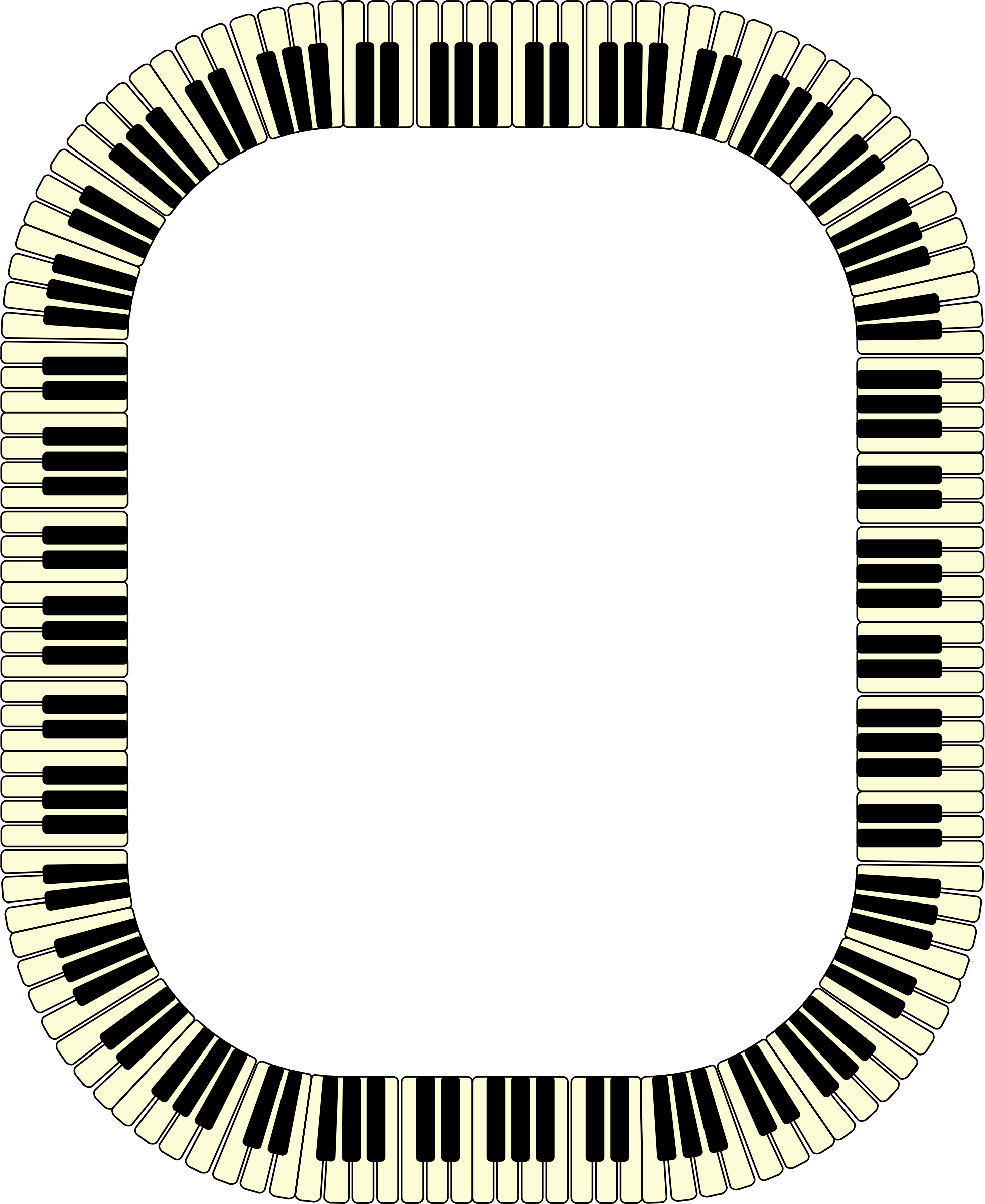 Piano keys frame (rectangle, inverted) by Firkin