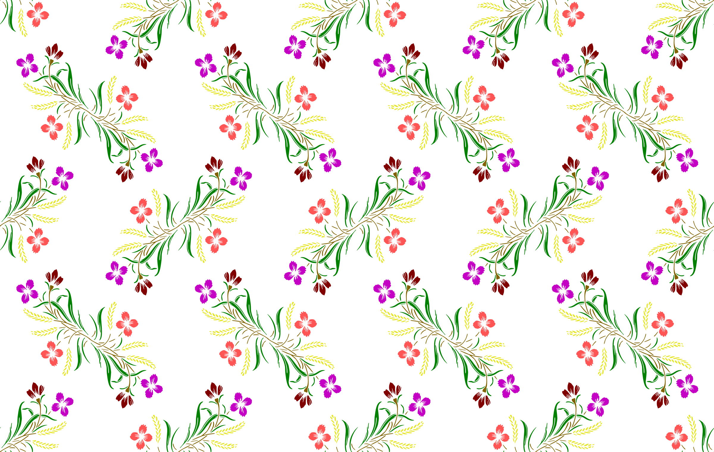 Floral background 16 (colour) by Firkin