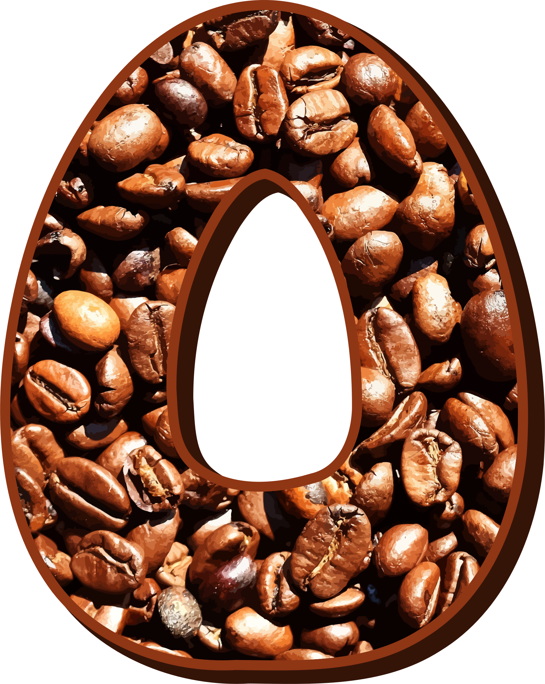 Coffee beans typography O by Firkin