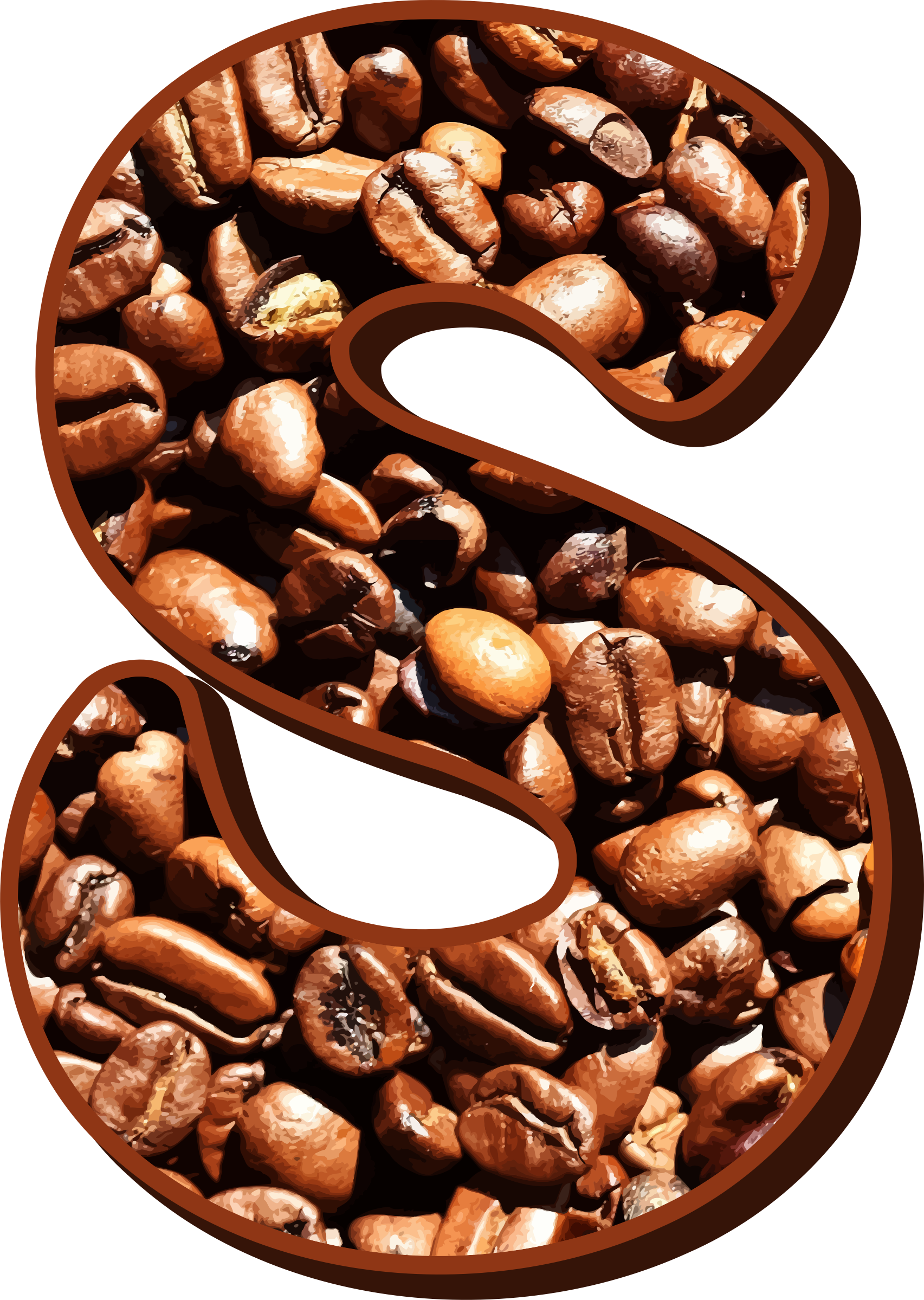 Coffee beans typography S by Firkin