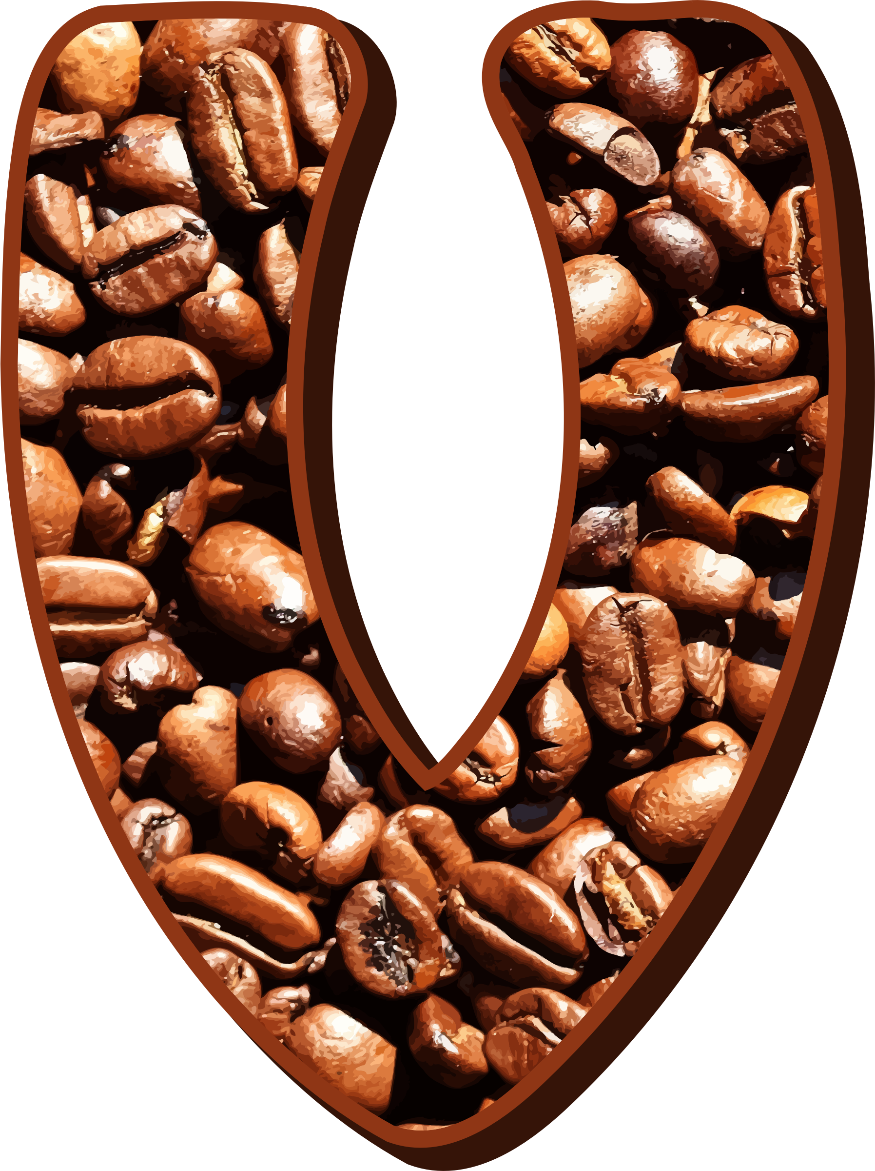 Coffee beans typography V by Firkin