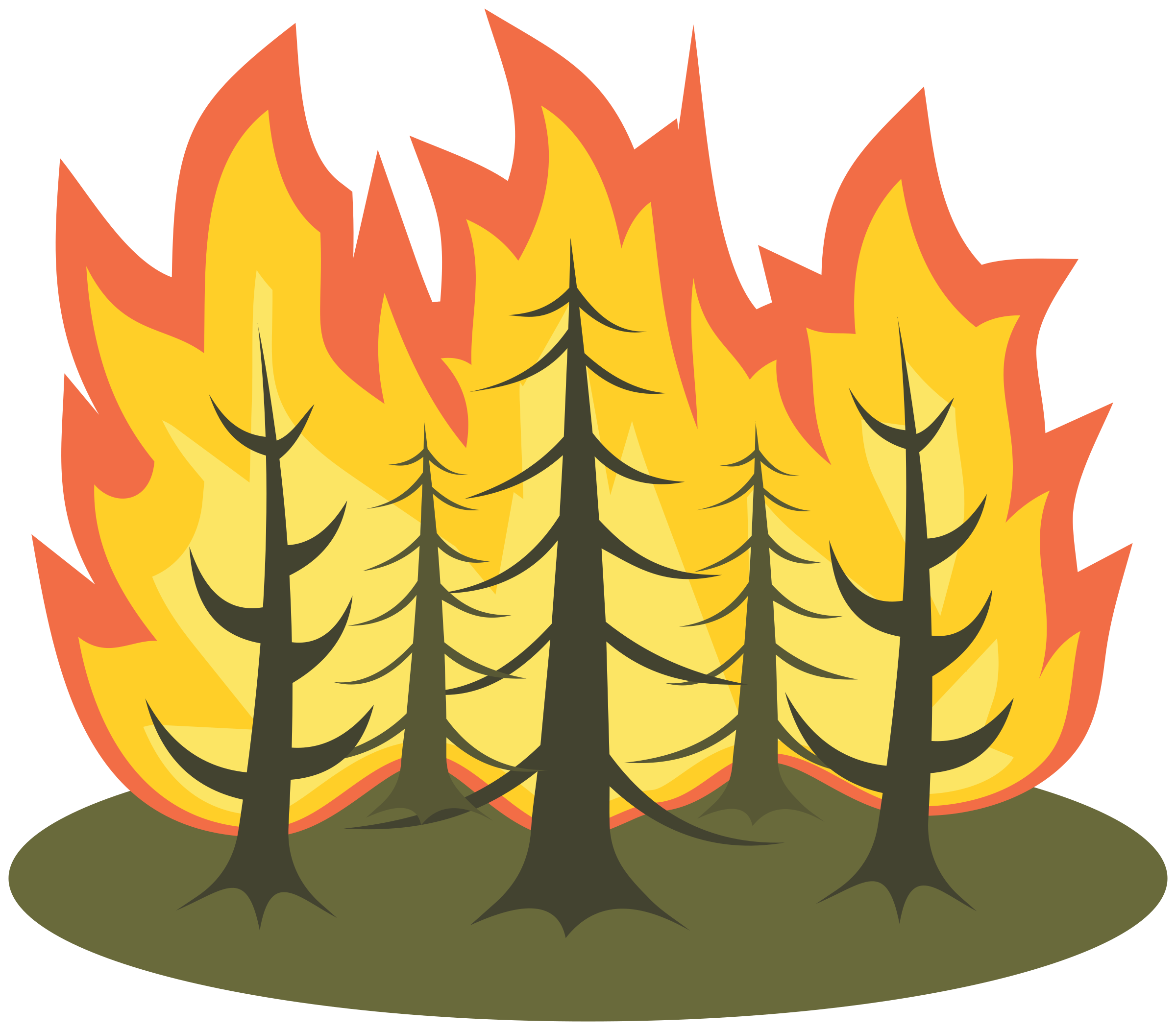 Forest fire by Juhele