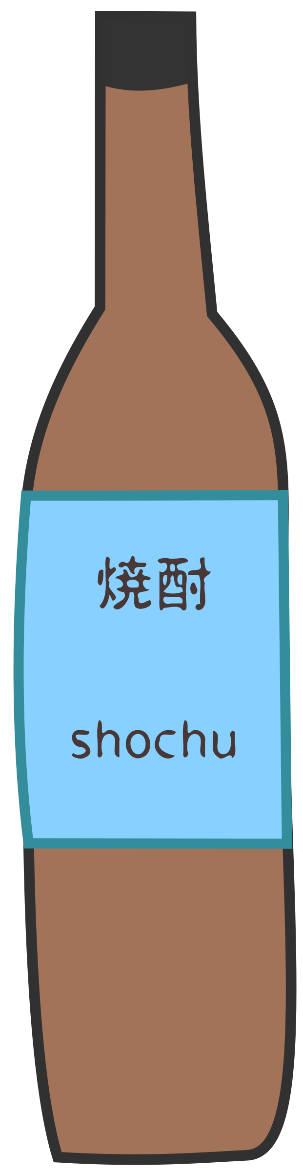 Shochu Bottle by j4p4n