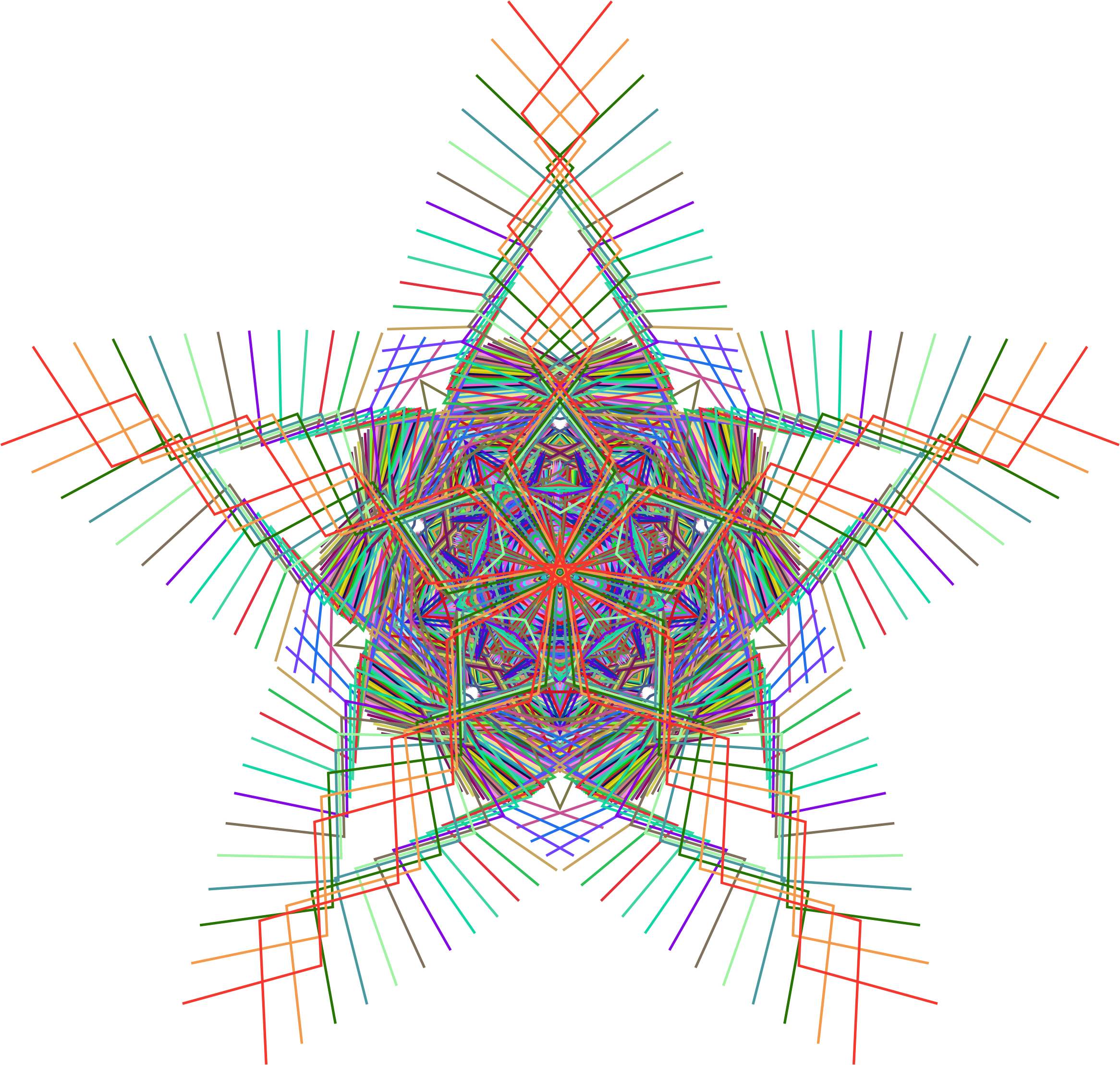 Prismatic Star Line Art by GDJ