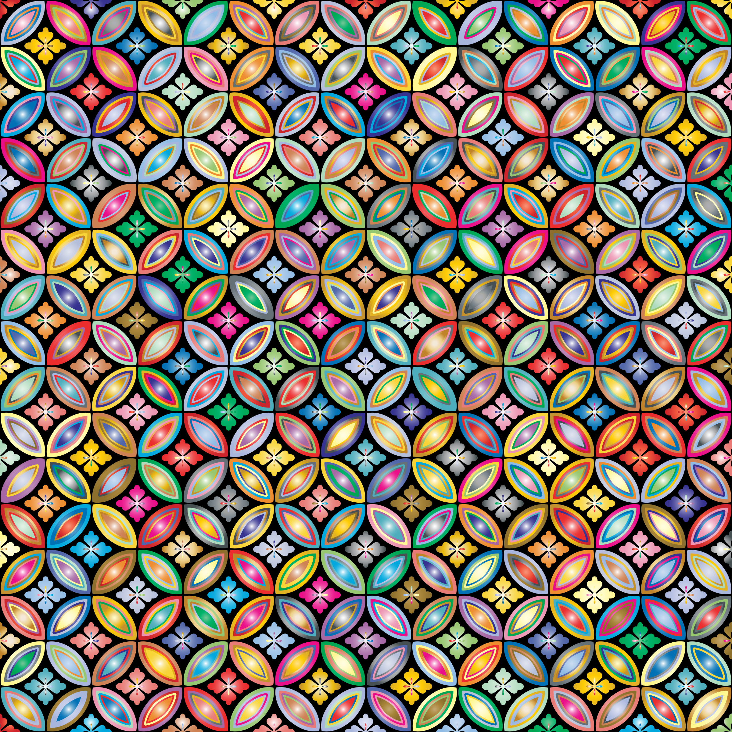 Prismatic Floral Design Pattern 2 by GDJ