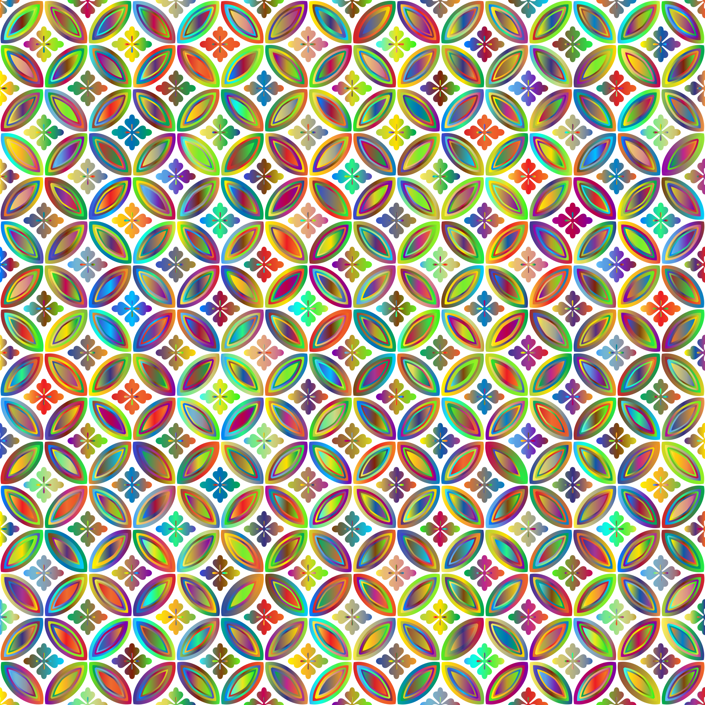 Prismatic Floral Design Pattern 3 No Background by GDJ
