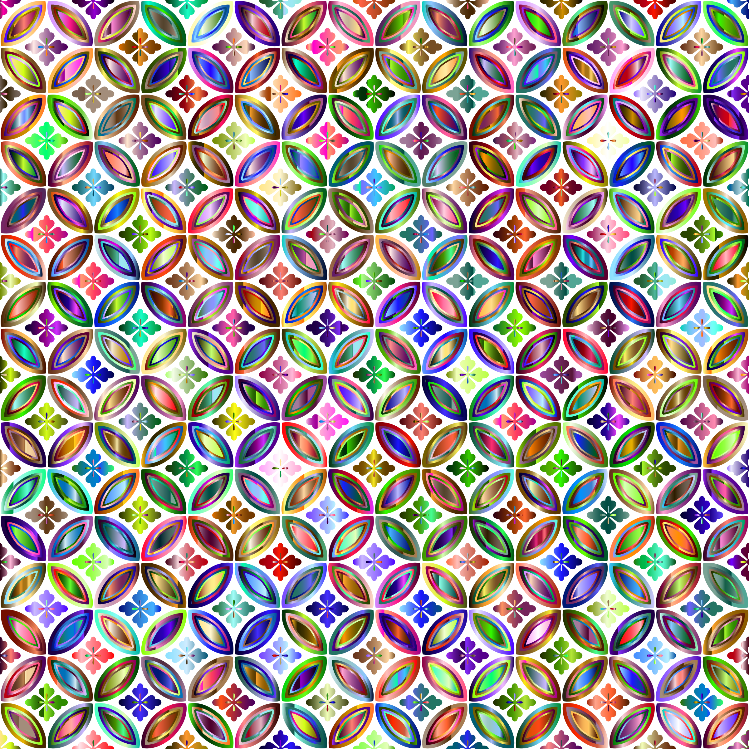 Prismatic Floral Design Pattern 4 No Background by GDJ