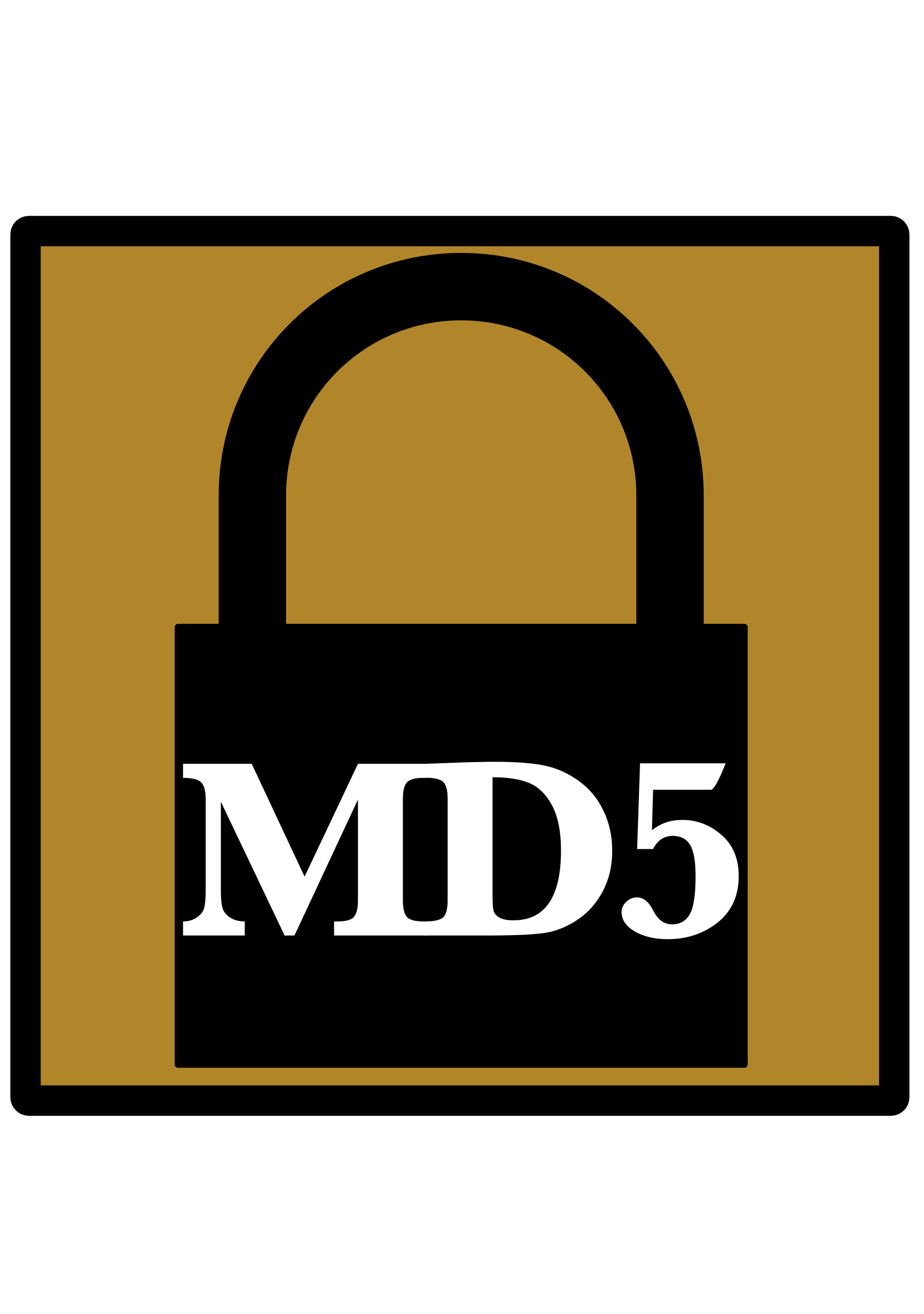 Padlock Silhouette Icon [Umber] [MD5] by Vookimedlo