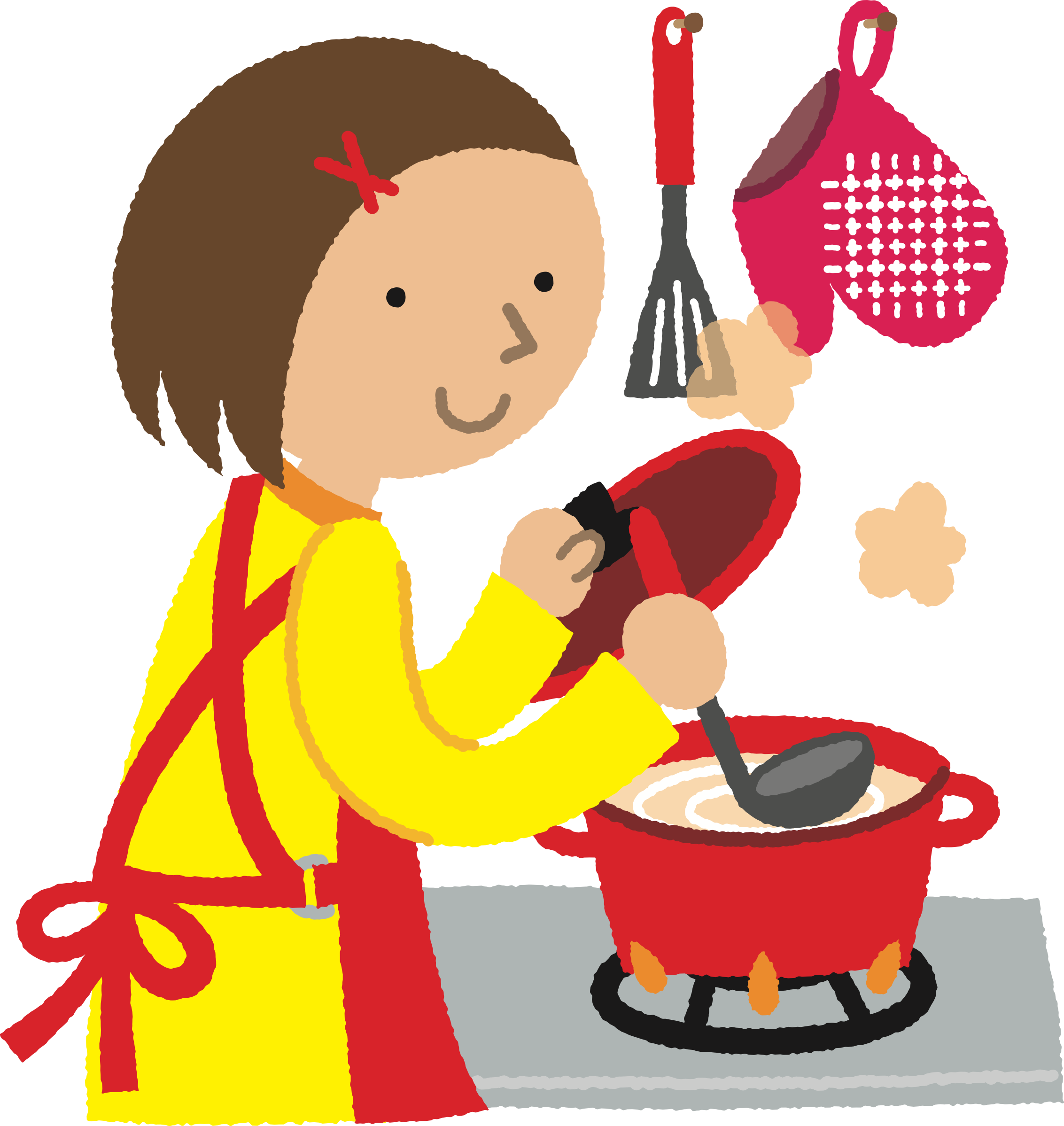 Clipart - Woman Cooking (#1)