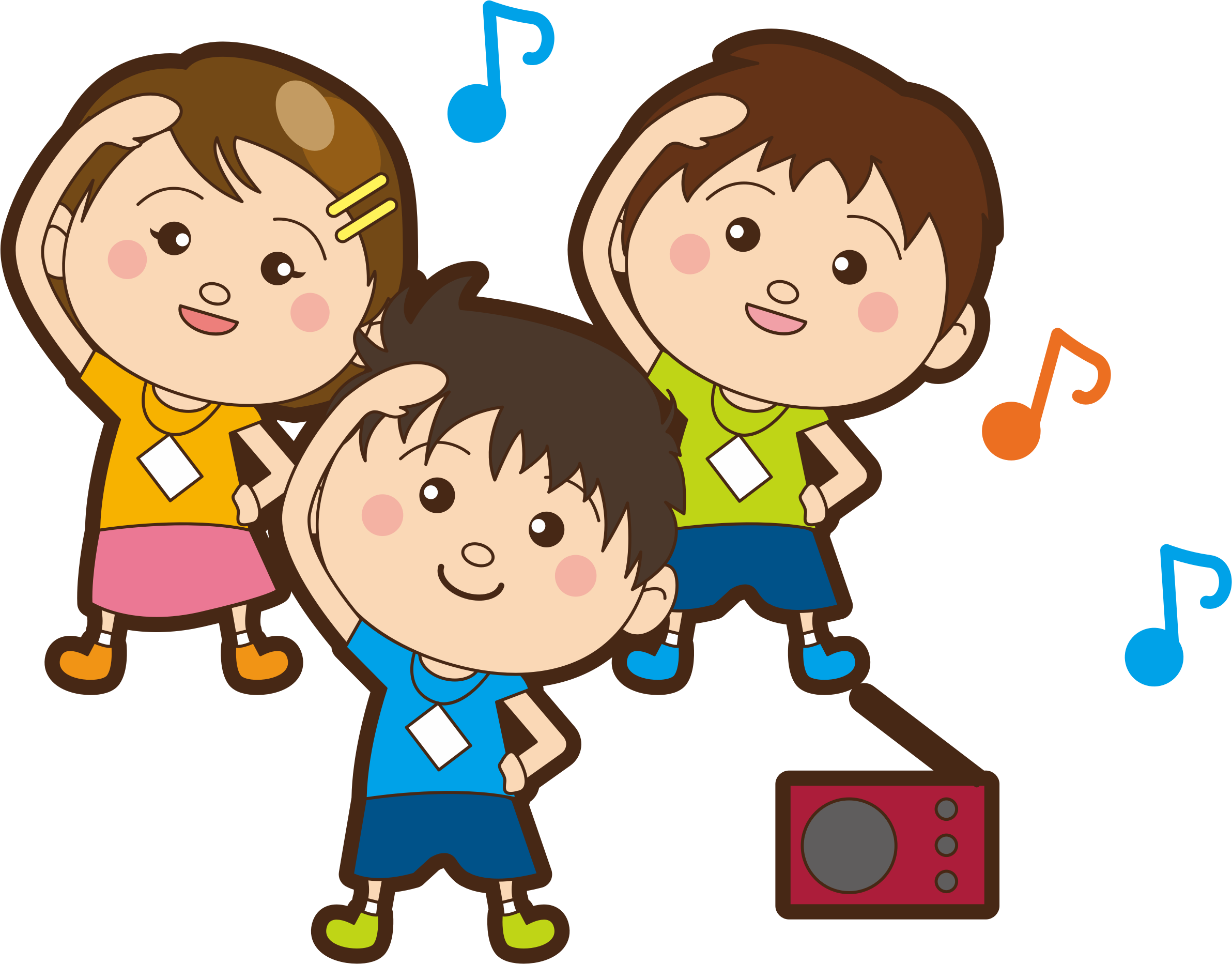 Clipart Children Exercise 2
