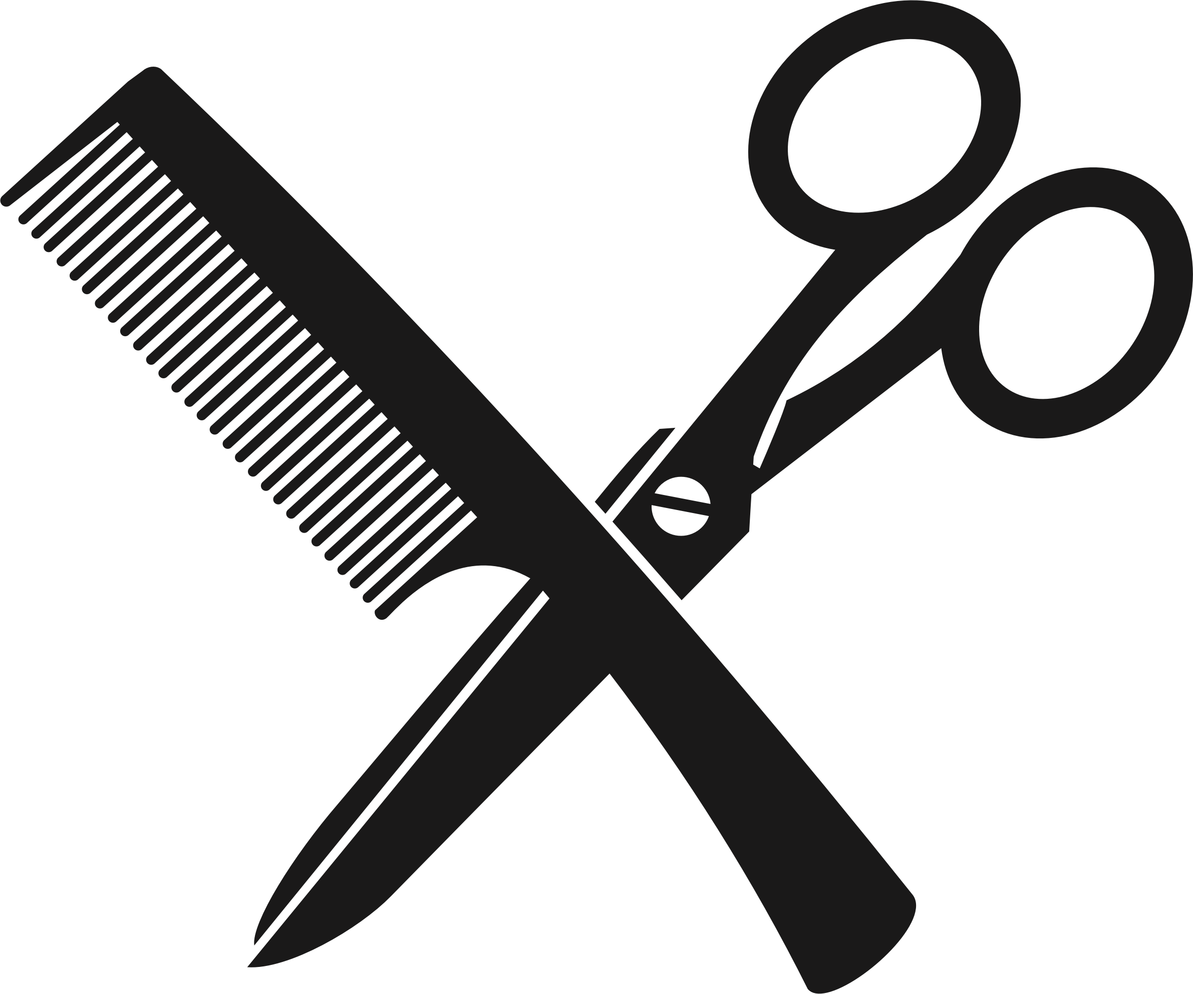 clipart comb and scissors 1