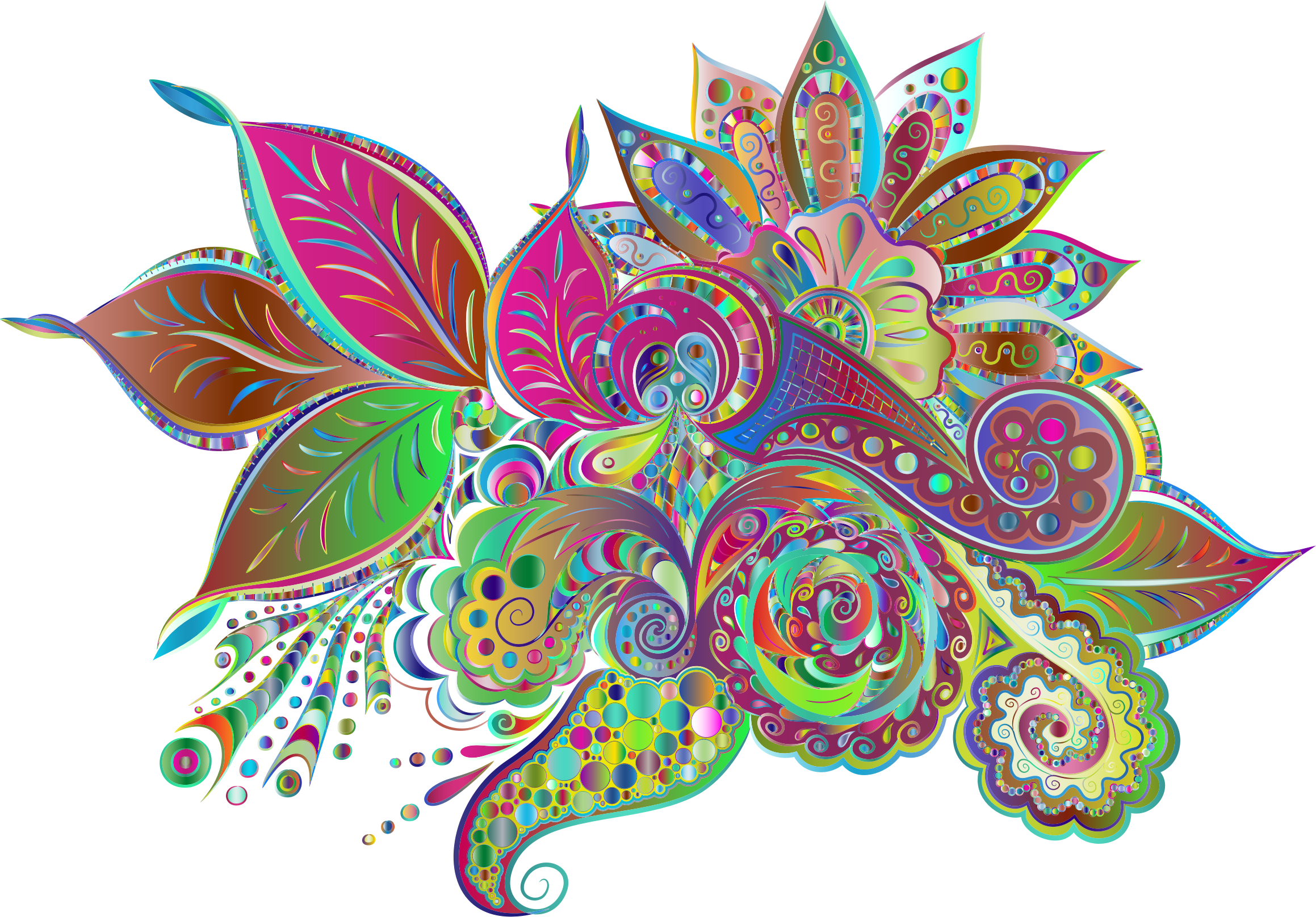 Line Art No Background : Clipart prismatic ornamental floral line art no background