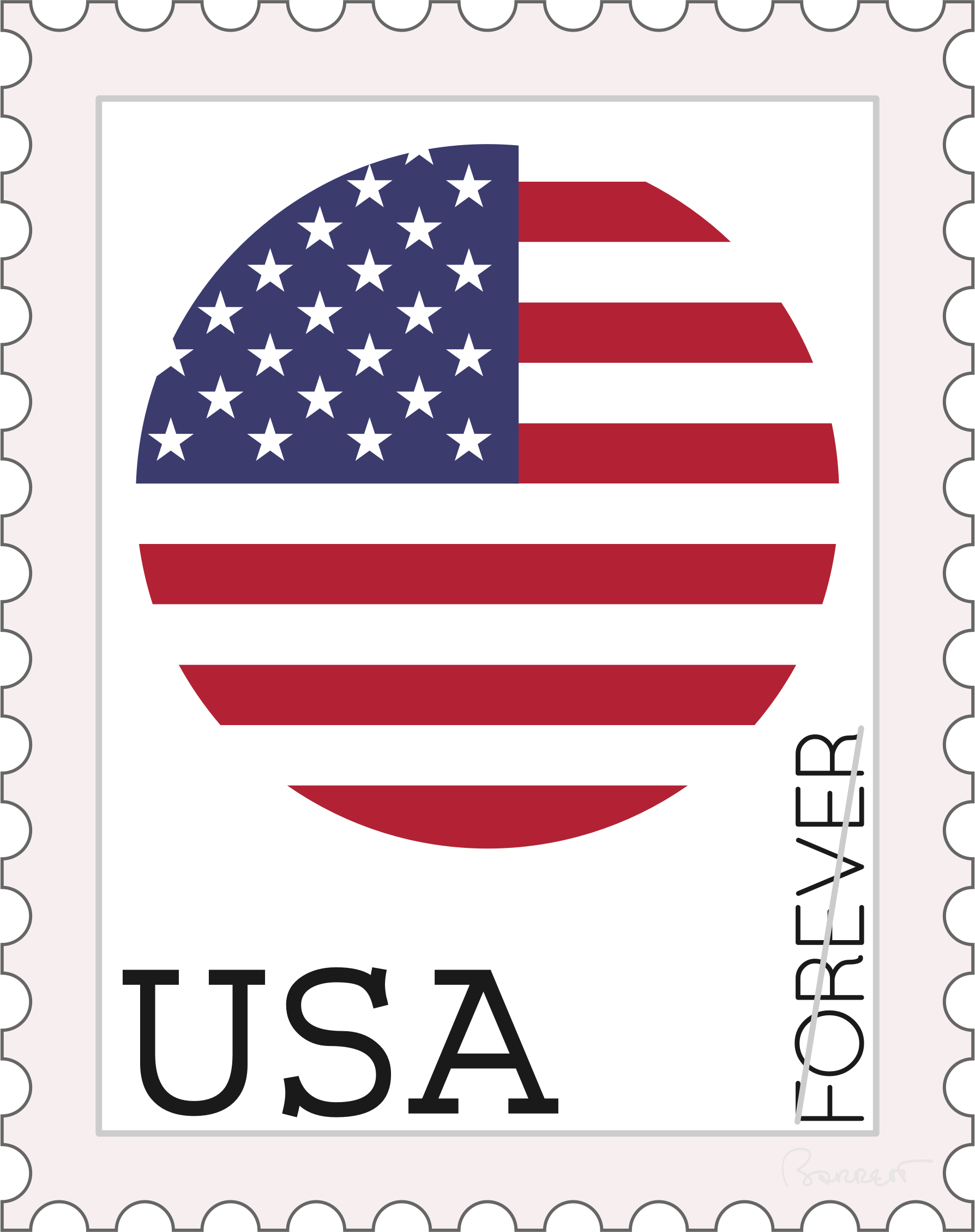 USA Forever Stamp Concept by barrettward