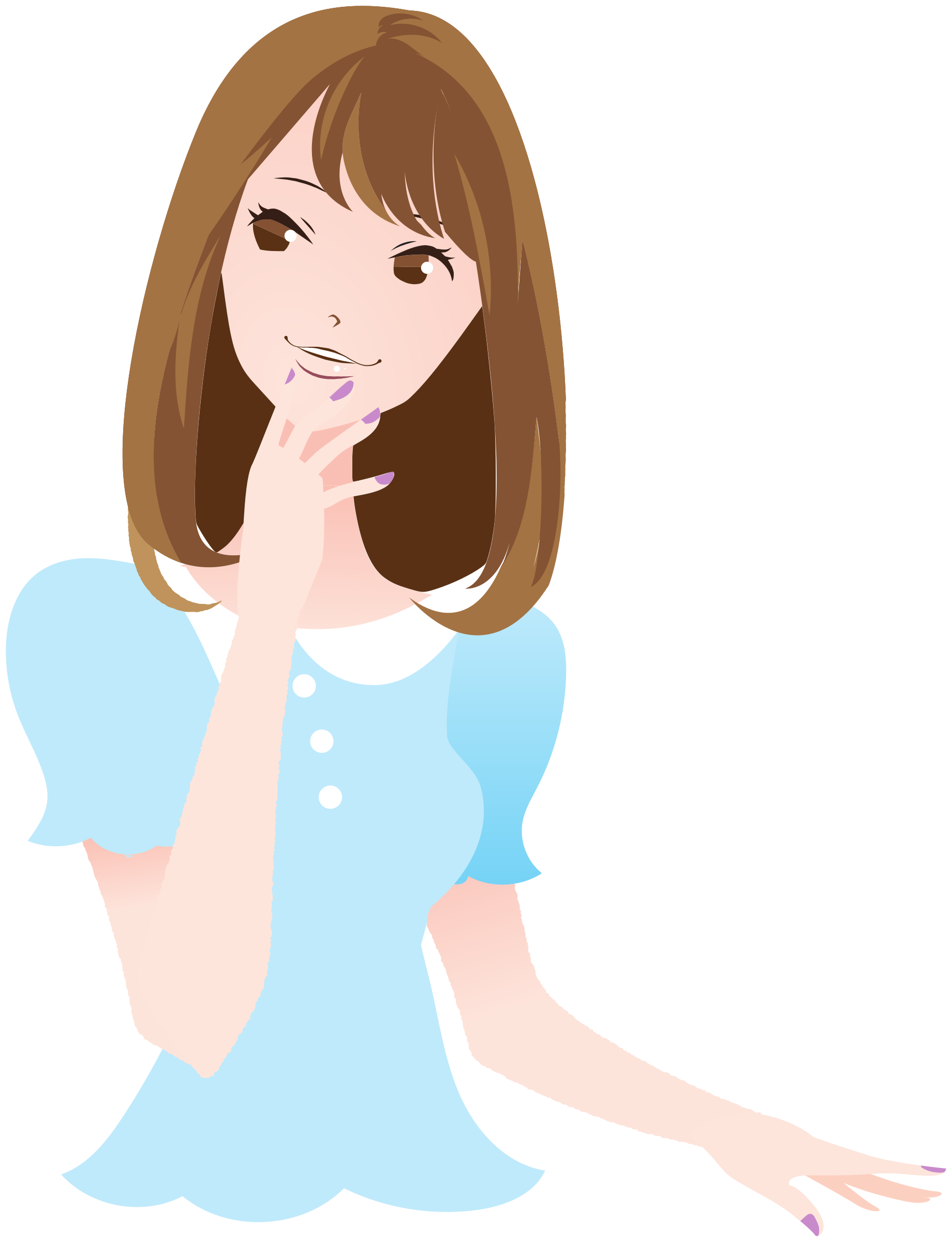 Clipart Beautiful Woman Girl