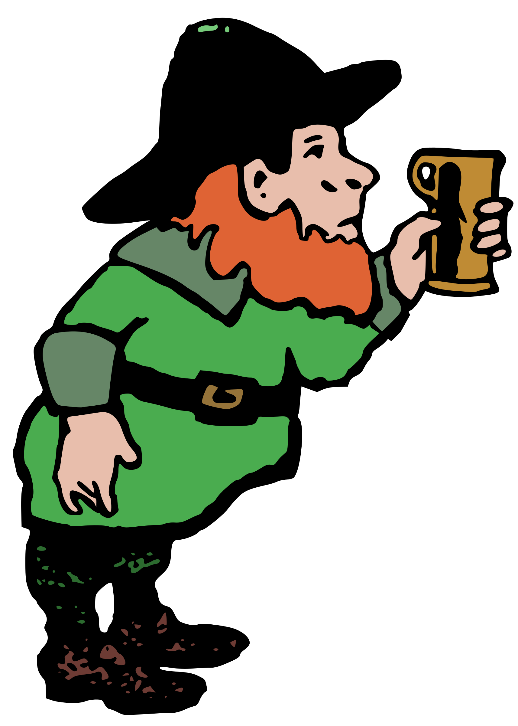 Leprechaun and Beer by j4p4n