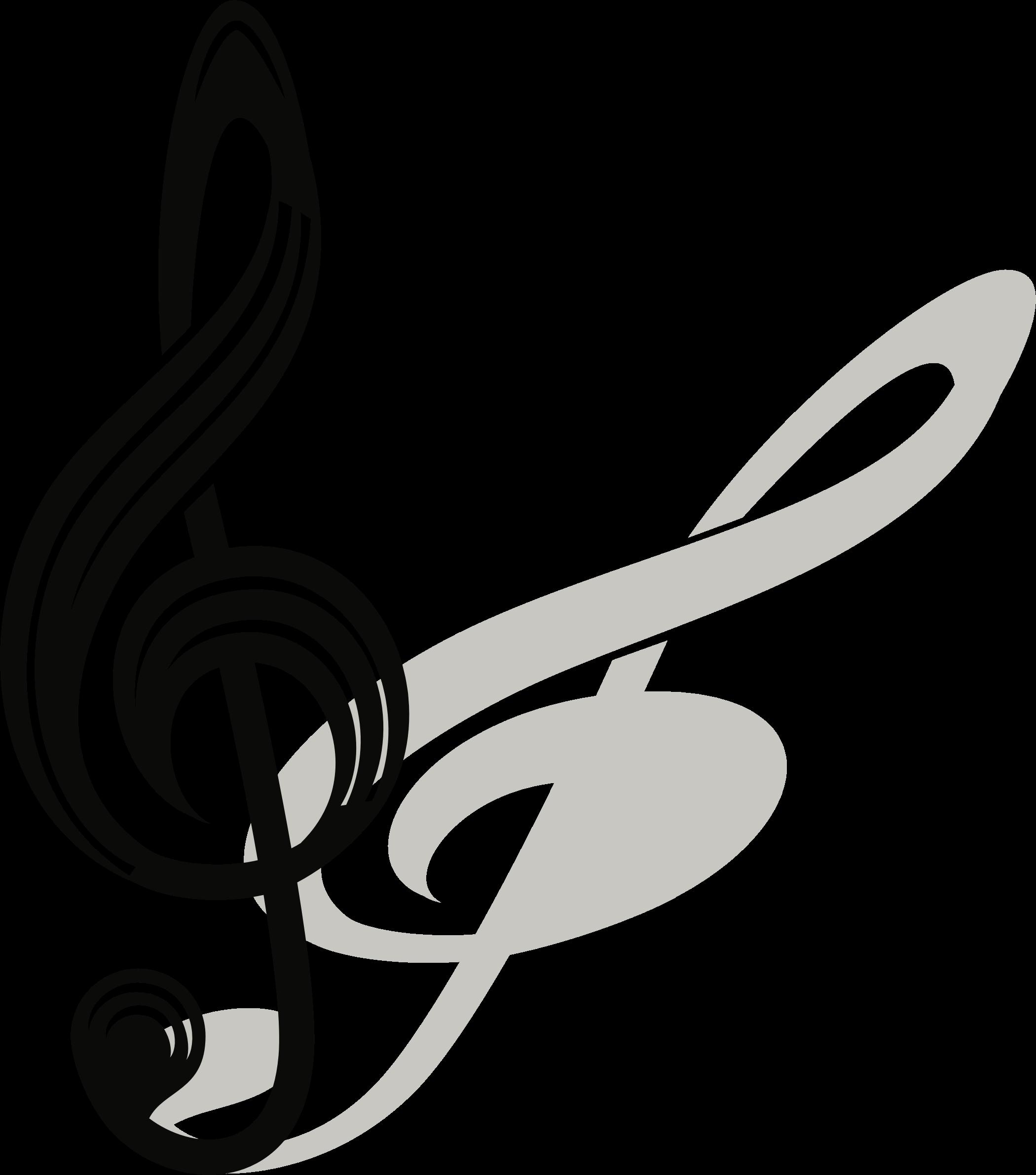 Открытка с скрипичным ключом