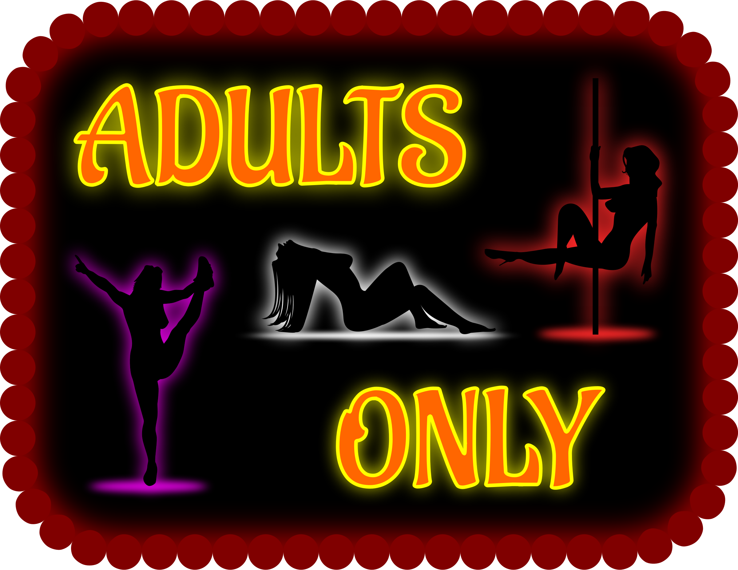 Adults only sign by Firkin