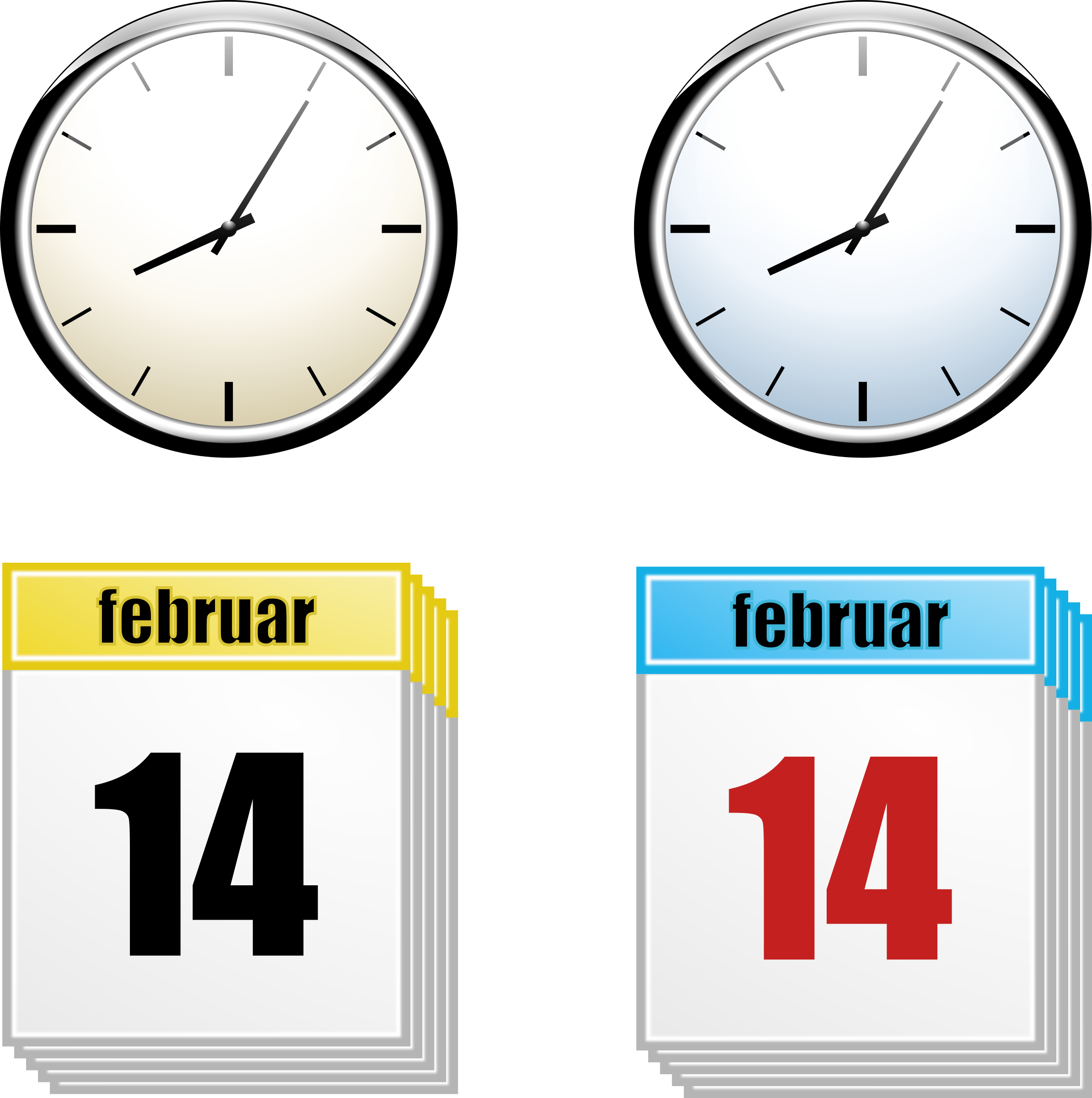 Clock + Calendar by rihard