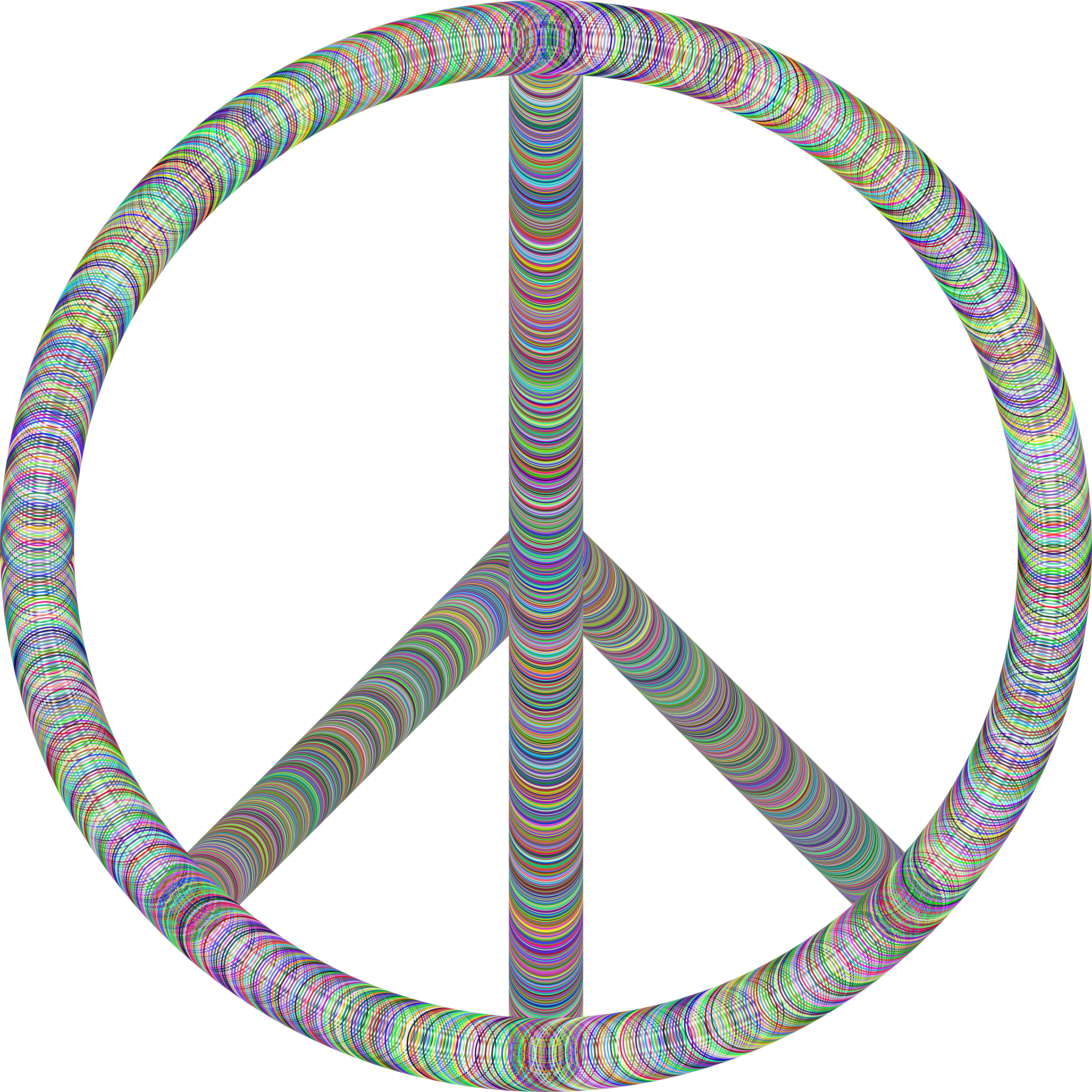 Peace Sign Tubes Prismatic by GDJ