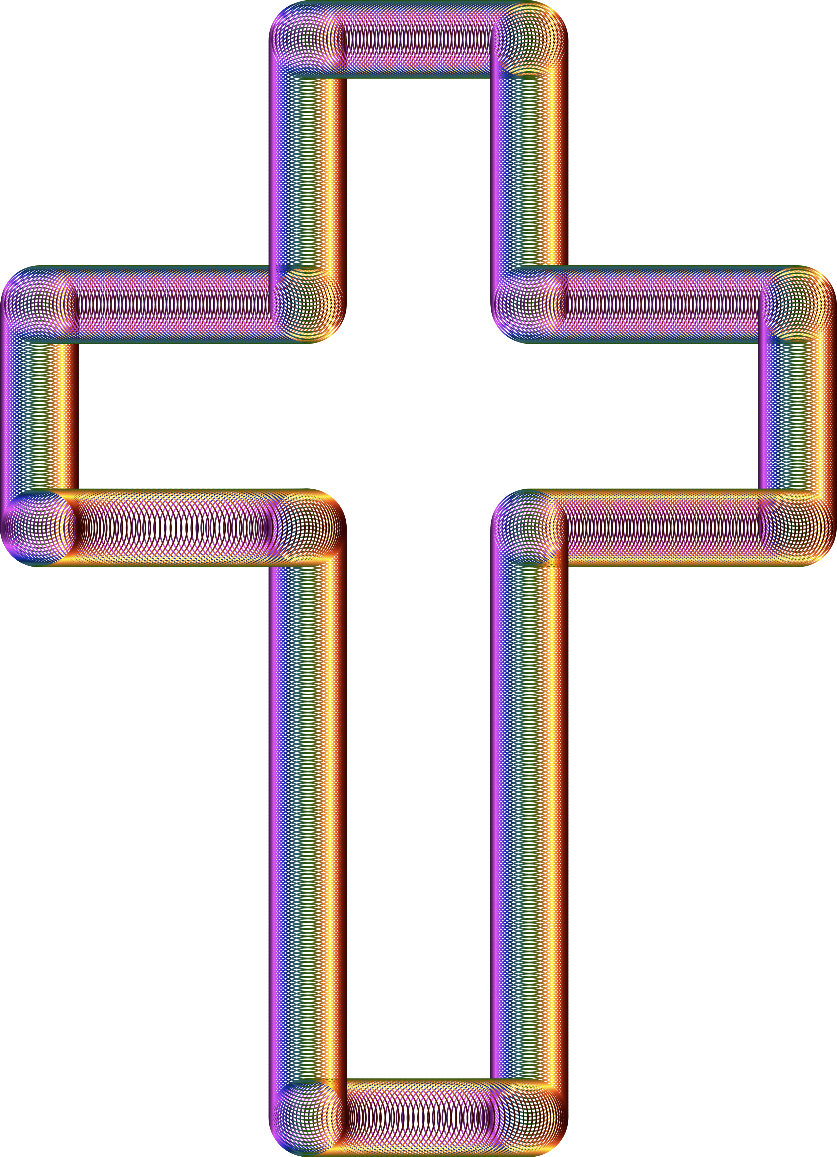 Cross Tubes Chromatic No Background by GDJ